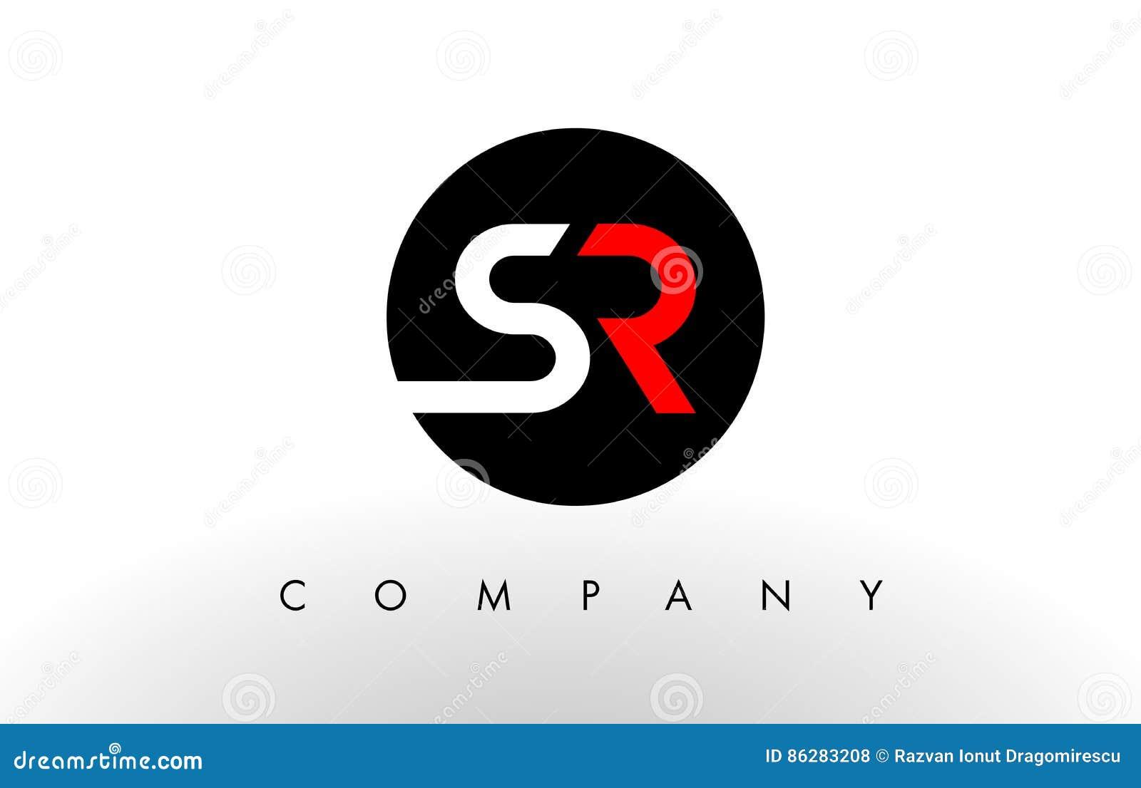 Λογότυπο SR Διάνυσμα σχεδίου επιστολών