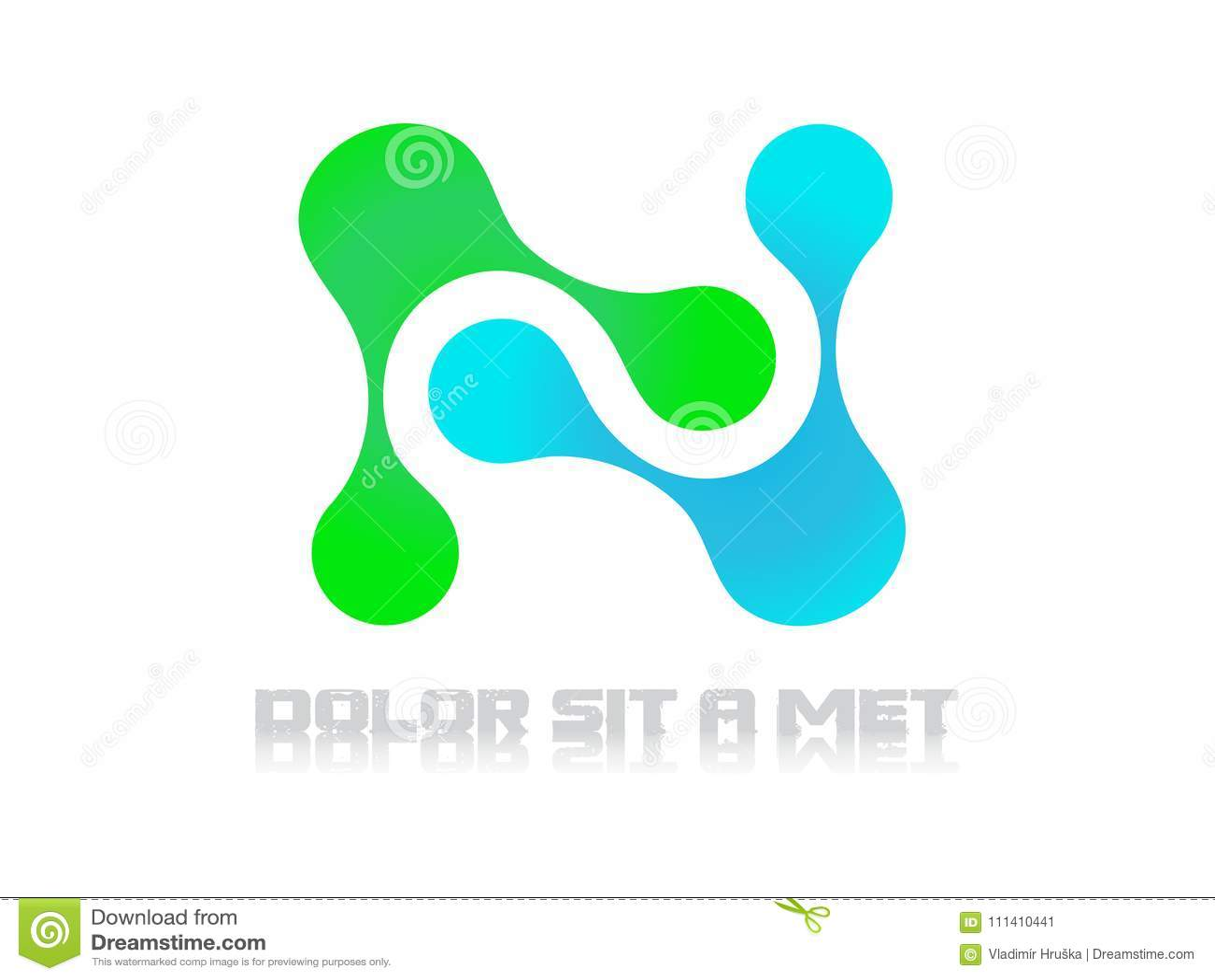 Λογότυπων τεχνολογίας αφηρημένο διάνυσμα επιστήμης μορίων ηλεκτρικό