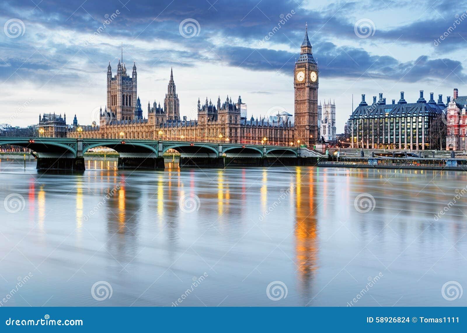 Λονδίνο - Big Ben και σπίτια του Κοινοβουλίου, UK