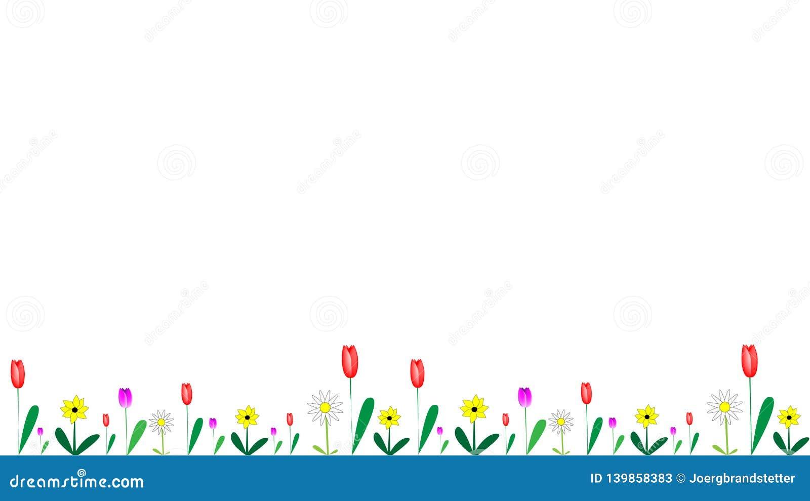 Λουλούδια στο διαφορετικό έμβλημα μορφών