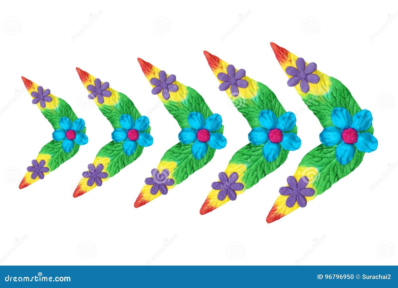 Λουλούδια φιαγμένα ζωηρόχρωμο έγγραφο που χρησιμοποιείται από για τη διακόσμηση