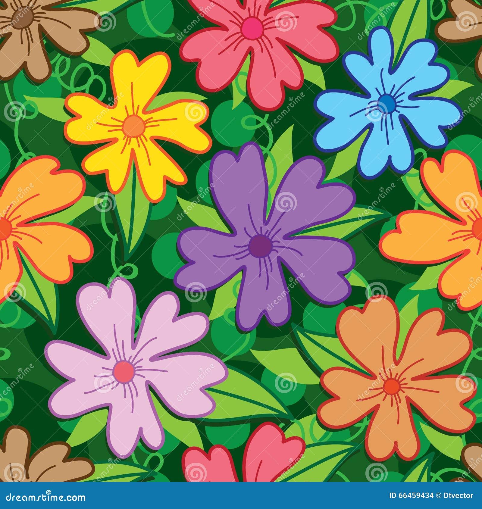 Λουλούδι πέντε ζωηρόχρωμο άνευ ραφής σχέδιο πετάλων
