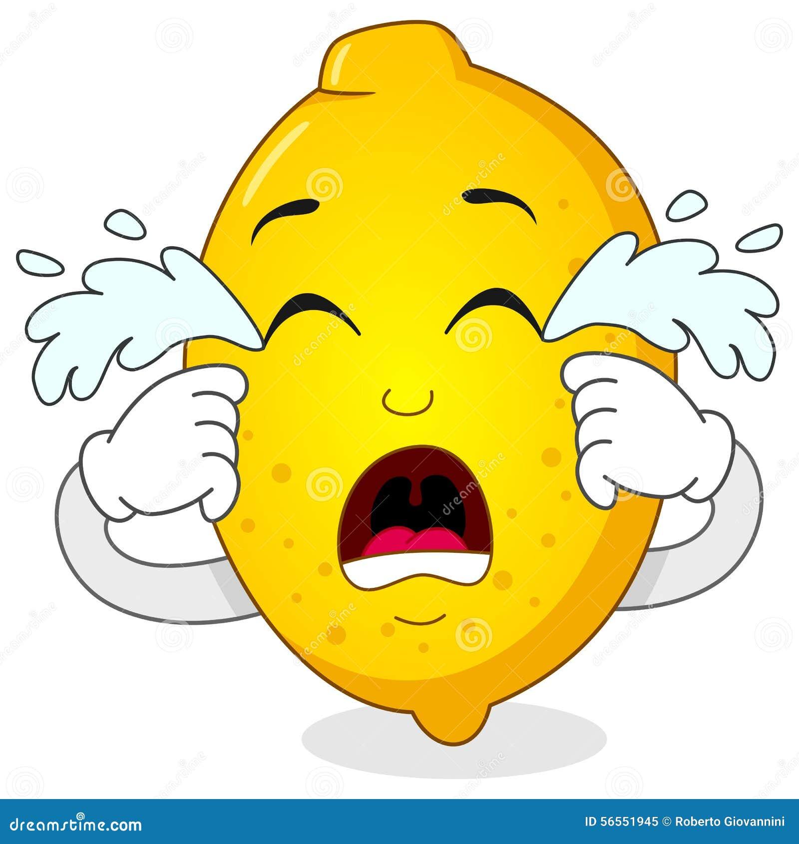 Download Λυπημένος φωνάζοντας χαρακτήρας κινουμένων σχεδίων λεμονιών Διανυσματική απεικόνιση - εικονογραφία από απομονωμένος, cartoon: 56551945