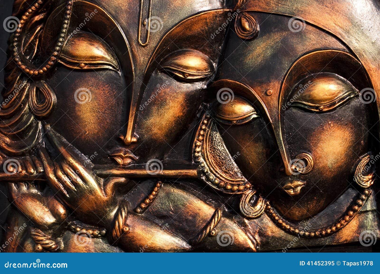 Λόρδος Krishna με το ladylove του