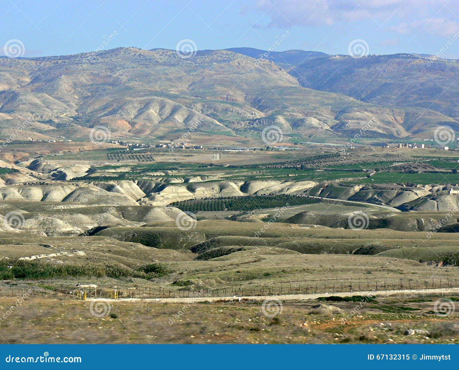 Λόφοι, κοιλάδα της Ιορδανίας