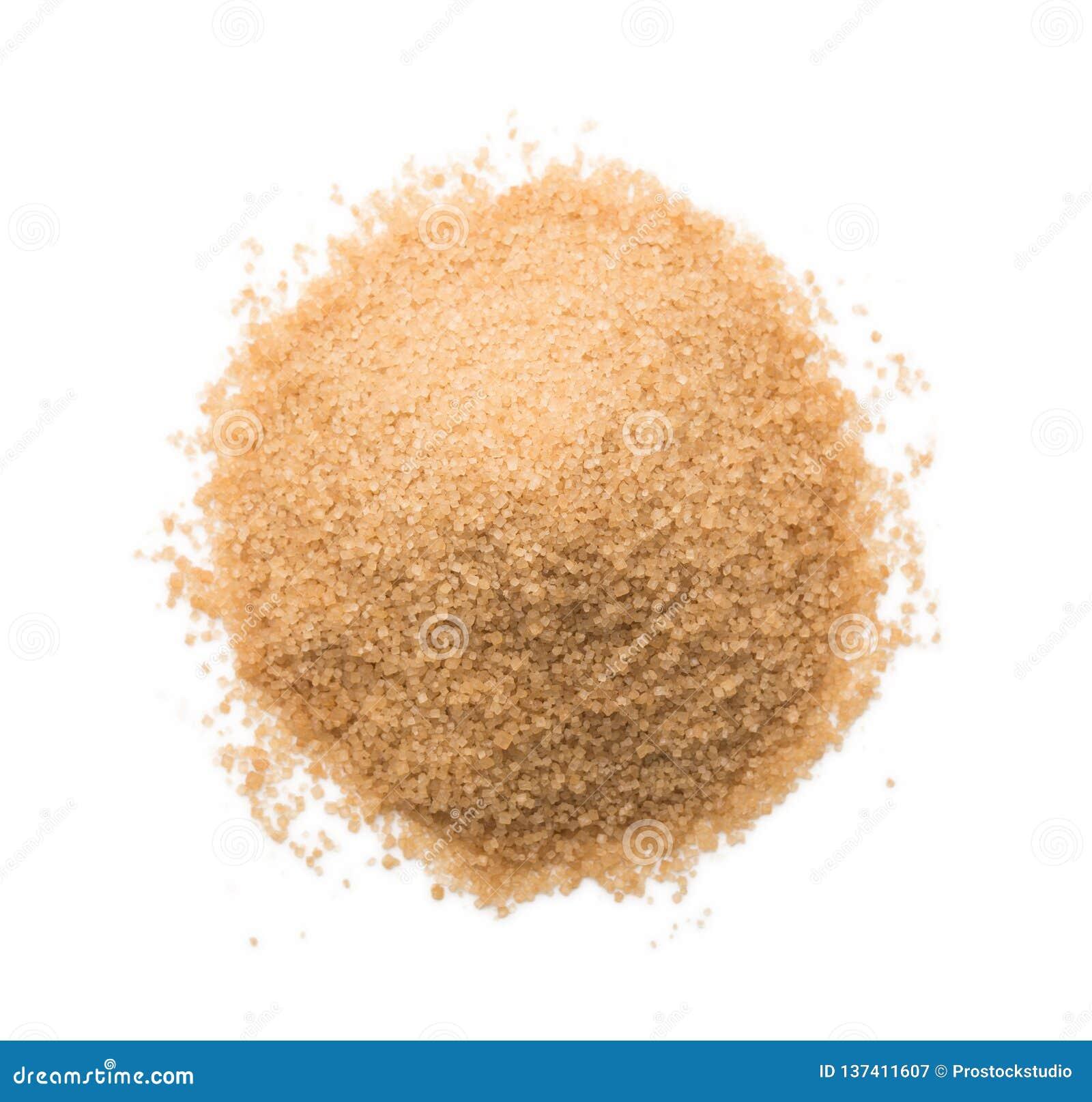 Λόφος ζάχαρης καλάμων που απομονώνεται στο άσπρο υπόβαθρο