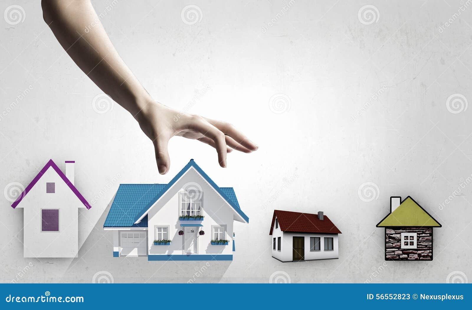 Download Μάζεμα με το χέρι του σπιτιού Στοκ Εικόνα - εικόνα από λαβή, εικονίδιο: 56552823