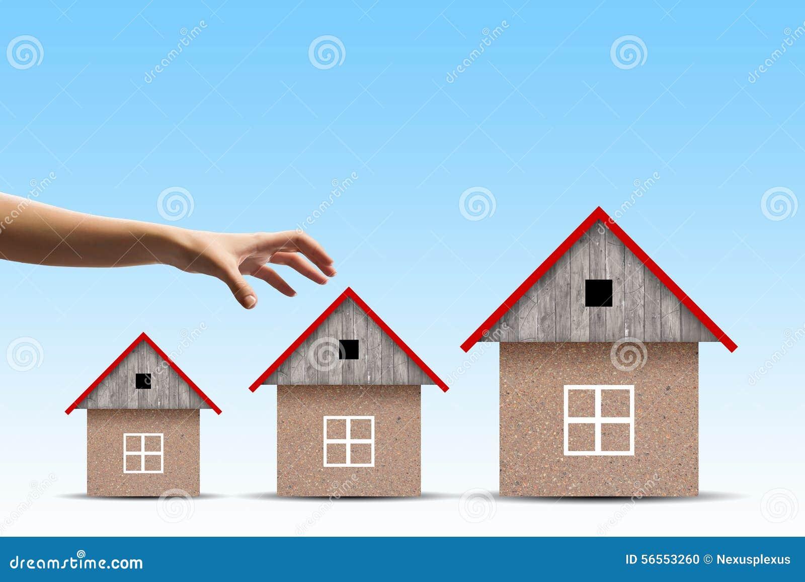Download Μάζεμα με το χέρι του σπιτιού Στοκ Εικόνες - εικόνα από χρώμα, σχέδιο: 56553260