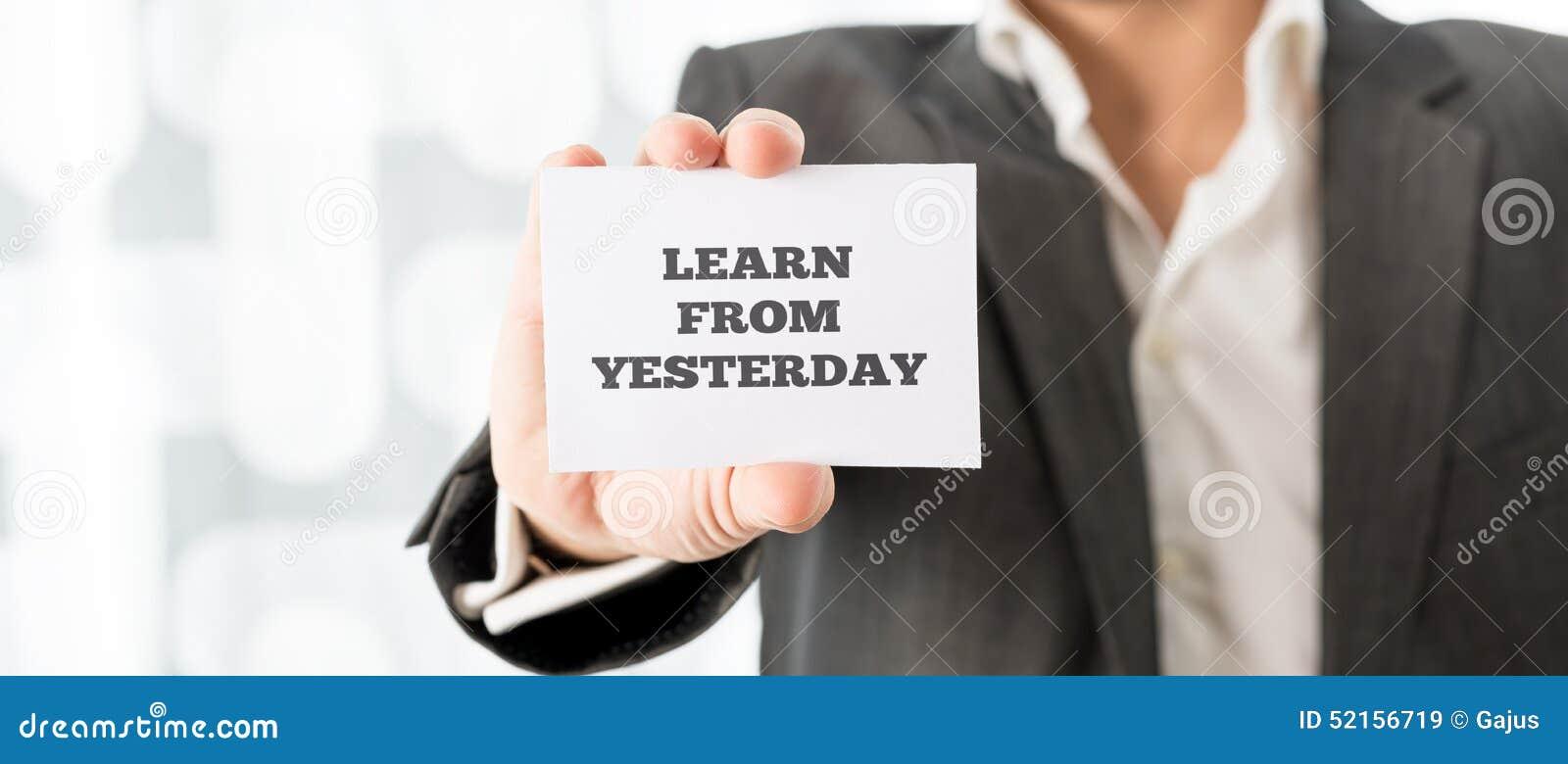 Μάθετε από το χθες
