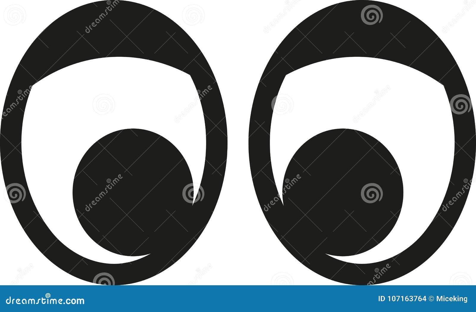 Μάτια κινούμενων σχεδίων με το βλέφαρο