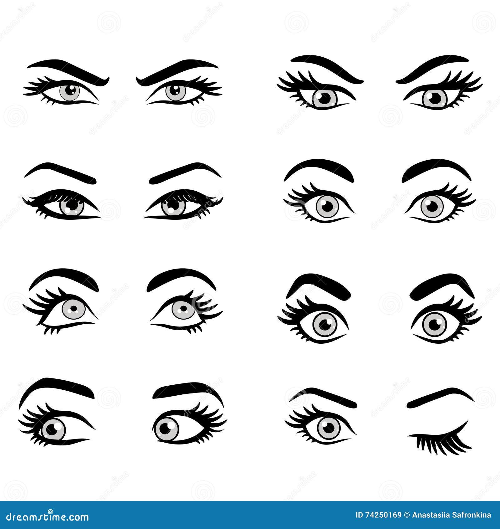 μάτια κινούμενων σχεδίων π&omic