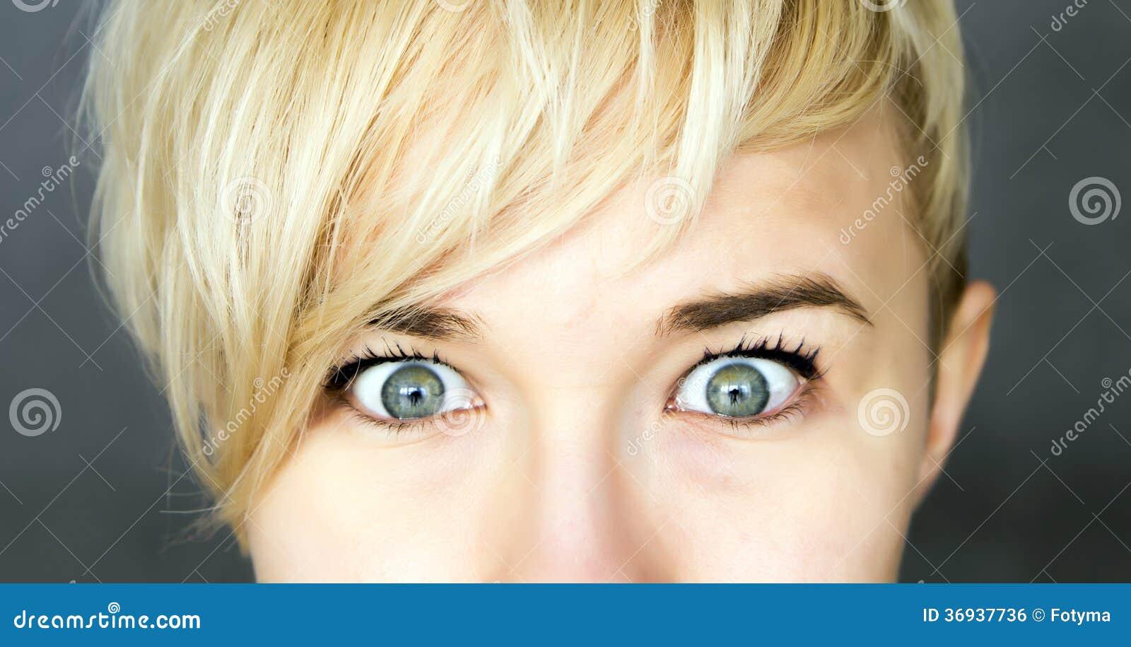 Μάτια που ανοίγουν ευρέως