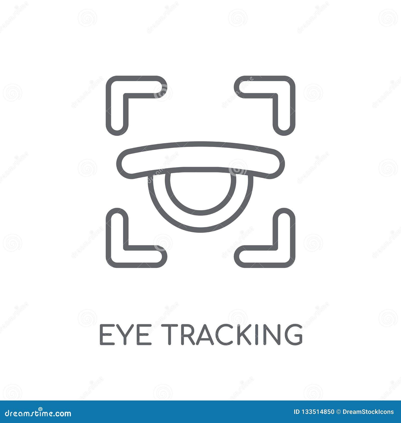 Μάτι που ακολουθεί το γραμμικό εικονίδιο Σύγχρονο conce λογότυπων καταδίωξης ματιών περιλήψεων