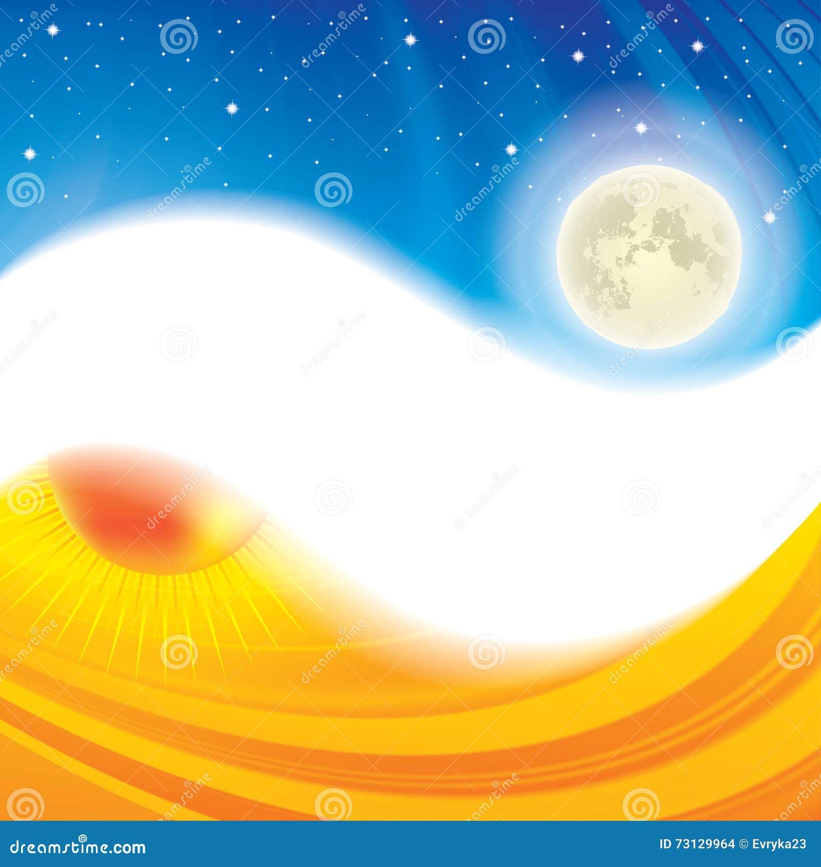 Μέρα και νύχτα ying yang υπόβαθρο έννοιας