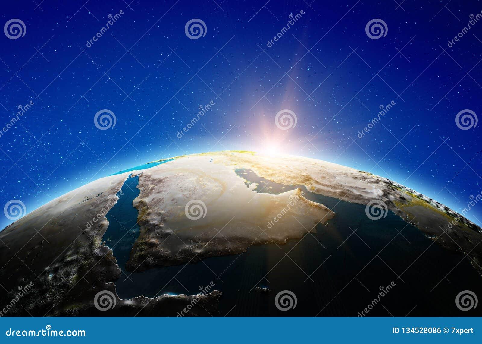 Μέση Ανατολή, Σαουδική Αραβία από το διάστημα