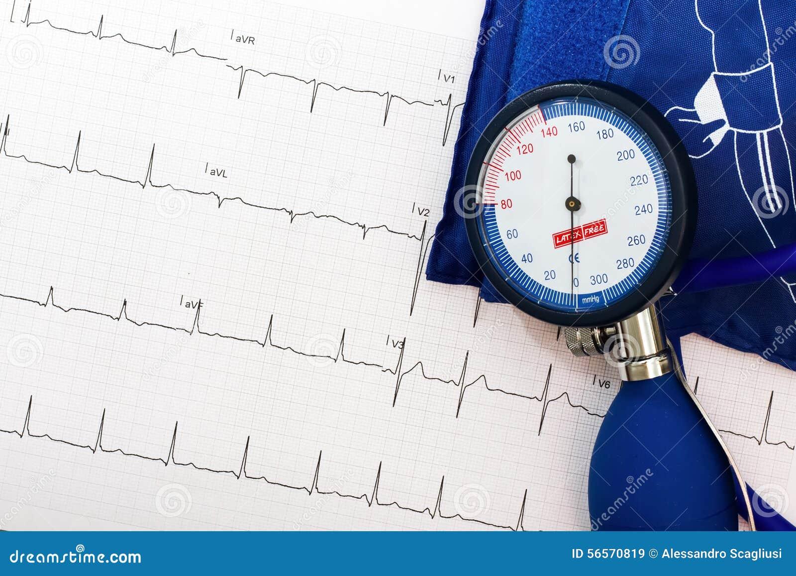 Download Μέτρηση Ekg και πίεσης του αίματος Στοκ Εικόνα - εικόνα από ηλεκτροκαρδιογράφημα, υψηλός: 56570819