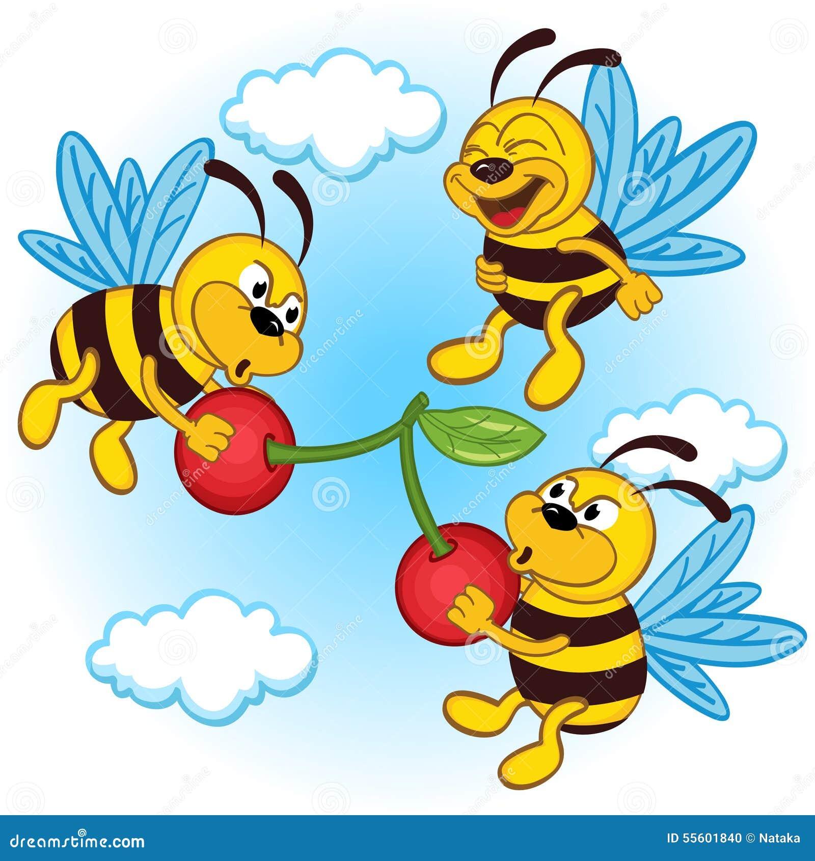 Μέλισσα και κεράσι