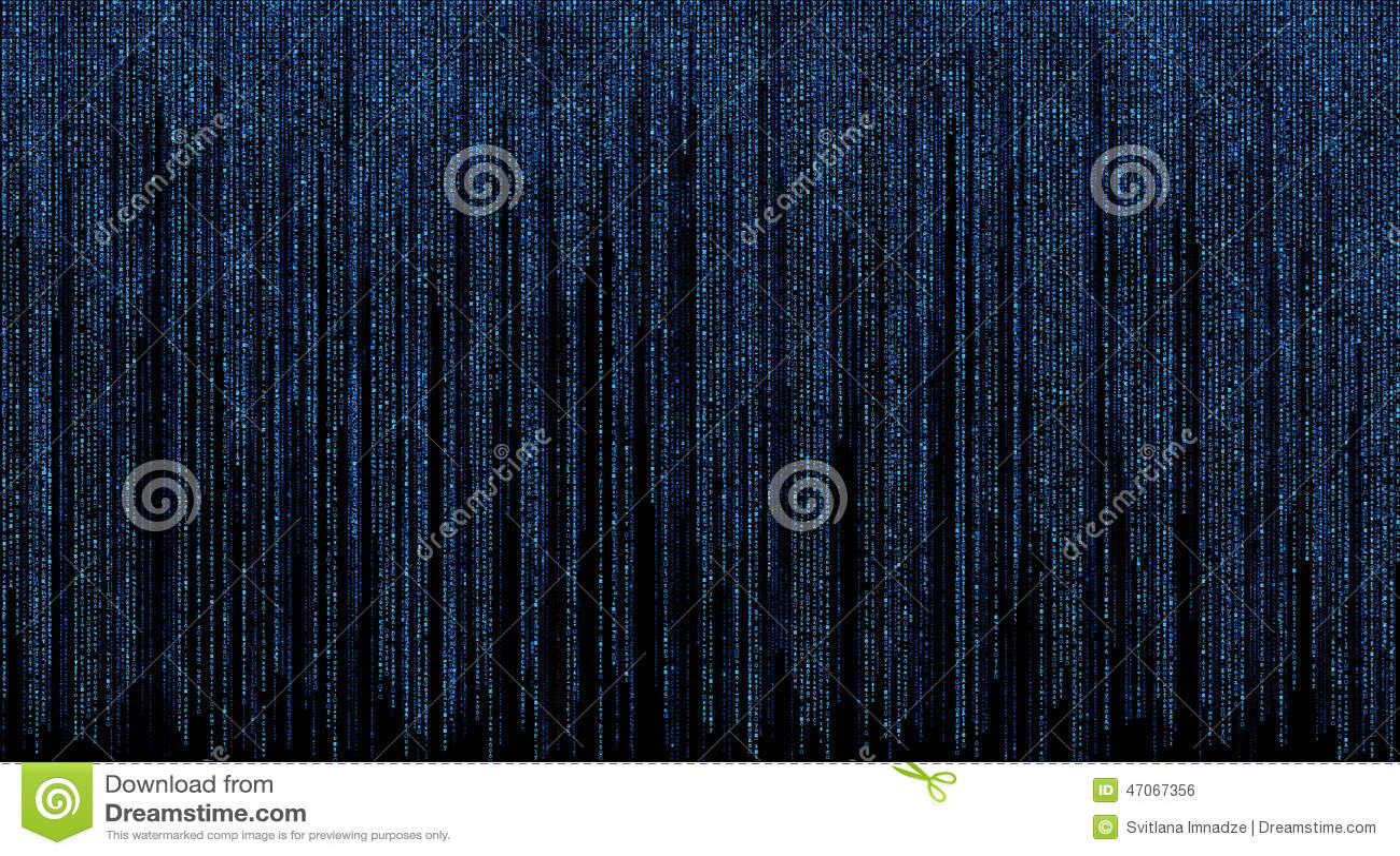 Μήτρα με το μπλε υπόβαθρο συμβόλων