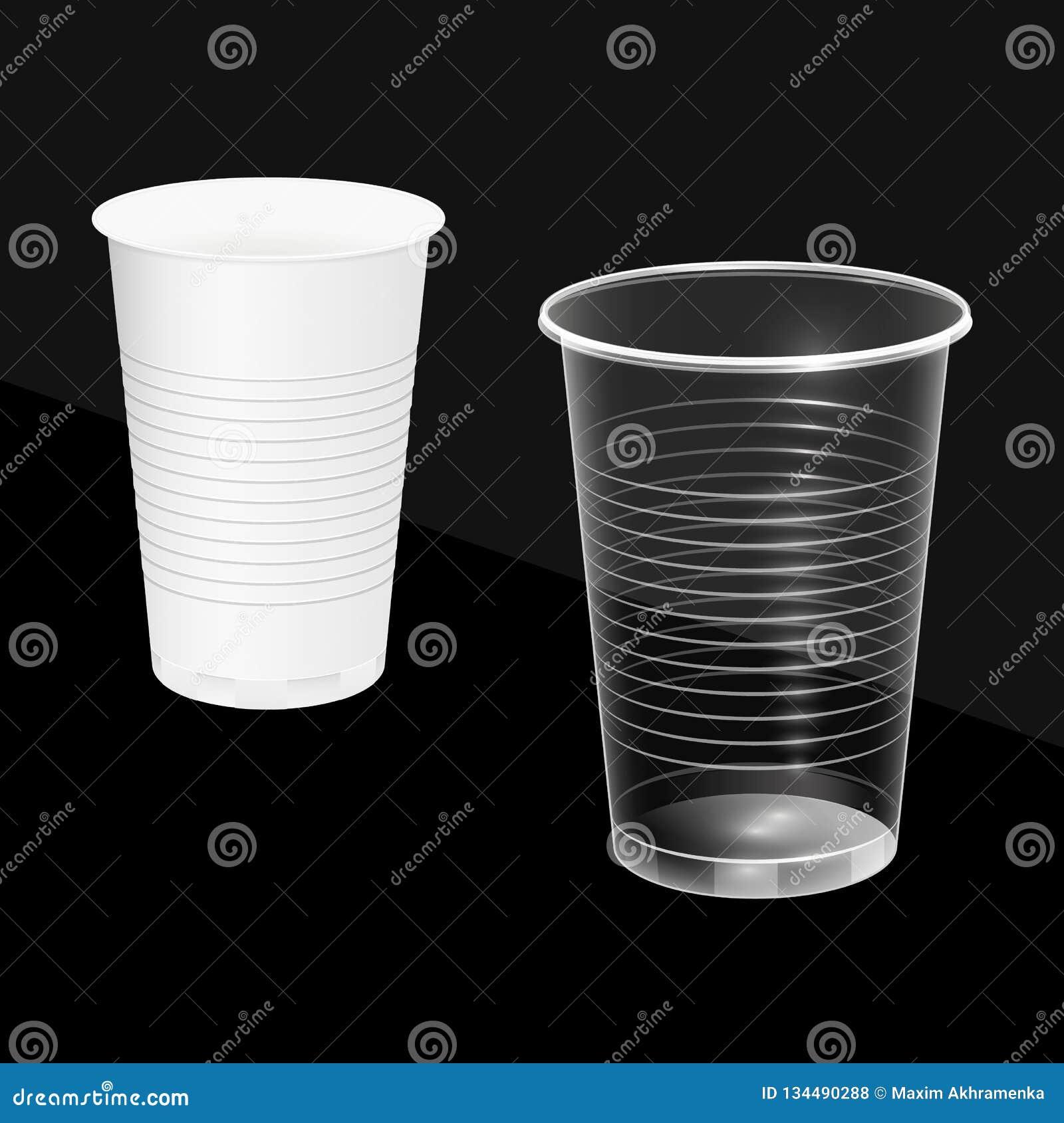 Μίας χρήσης φλυτζάνια, άσπρος και διαφανής Εύφλεκτα πιάτα επίσης corel σύρετε το διάνυσμα απεικόνισης