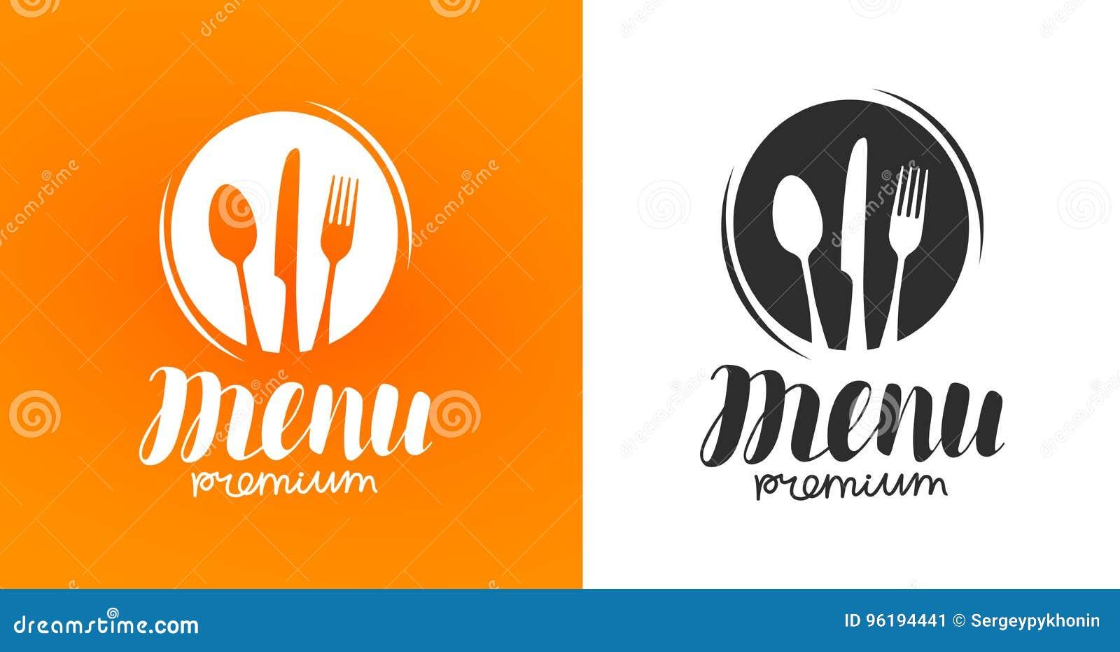 Μαγείρεμα, λογότυπο κουζίνας Εικονίδιο και ετικέτα για το εστιατόριο ή τον καφέ επιλογών σχεδίου Εγγραφή, διανυσματική απεικόνιση