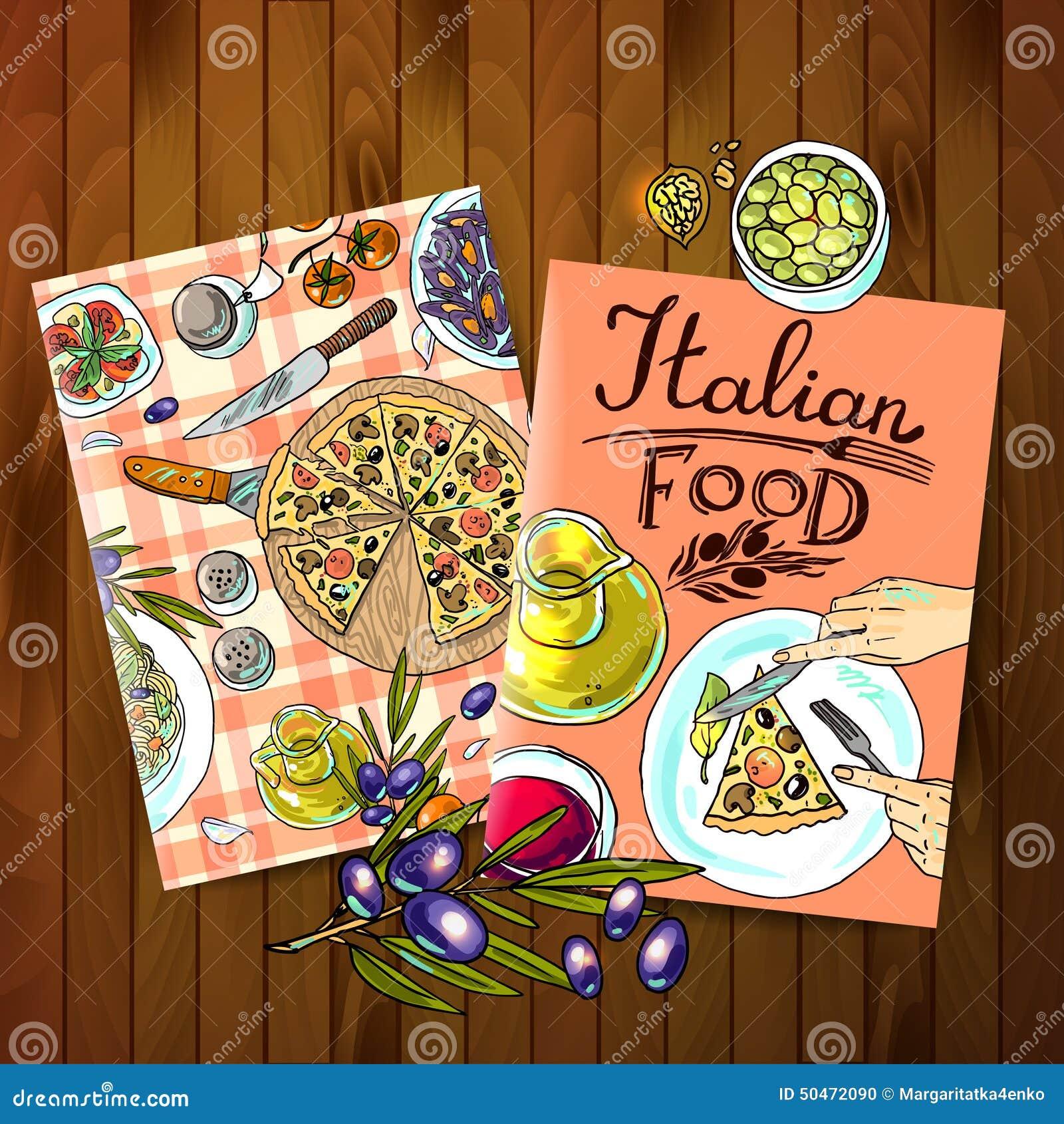μαγειρεύοντας συστατικά ιταλικά τροφίμων