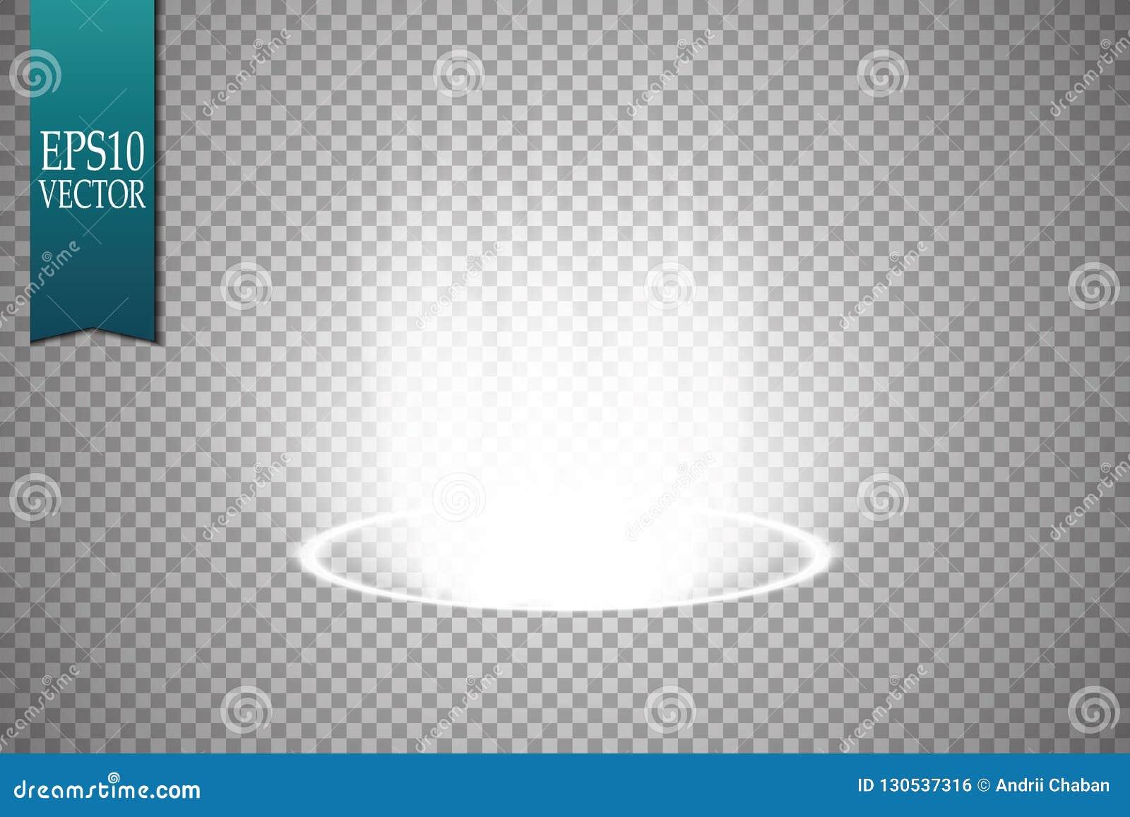 Μαγική πύλη φαντασίας Φουτουριστικό teleport Ελαφριά επίδραση Μπλε ακτίνες κεριών μιας σκηνής νύχτας με τους σπινθήρες σε έναν δι