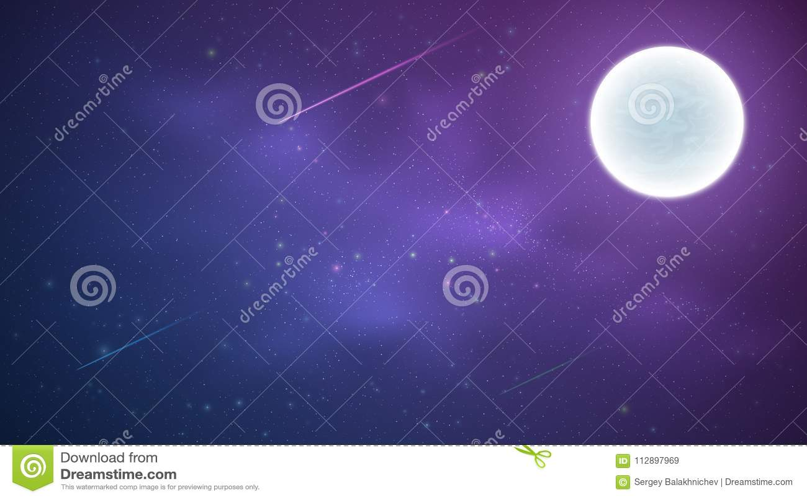 Μαγικός έναστρος ουρανός με έναν φωτεινό μπλε και πορφυρό γαλακτώδη τρόπο Αστέρια πυροβολισμού παγόδα της Myanmar πανσελήνων shwe