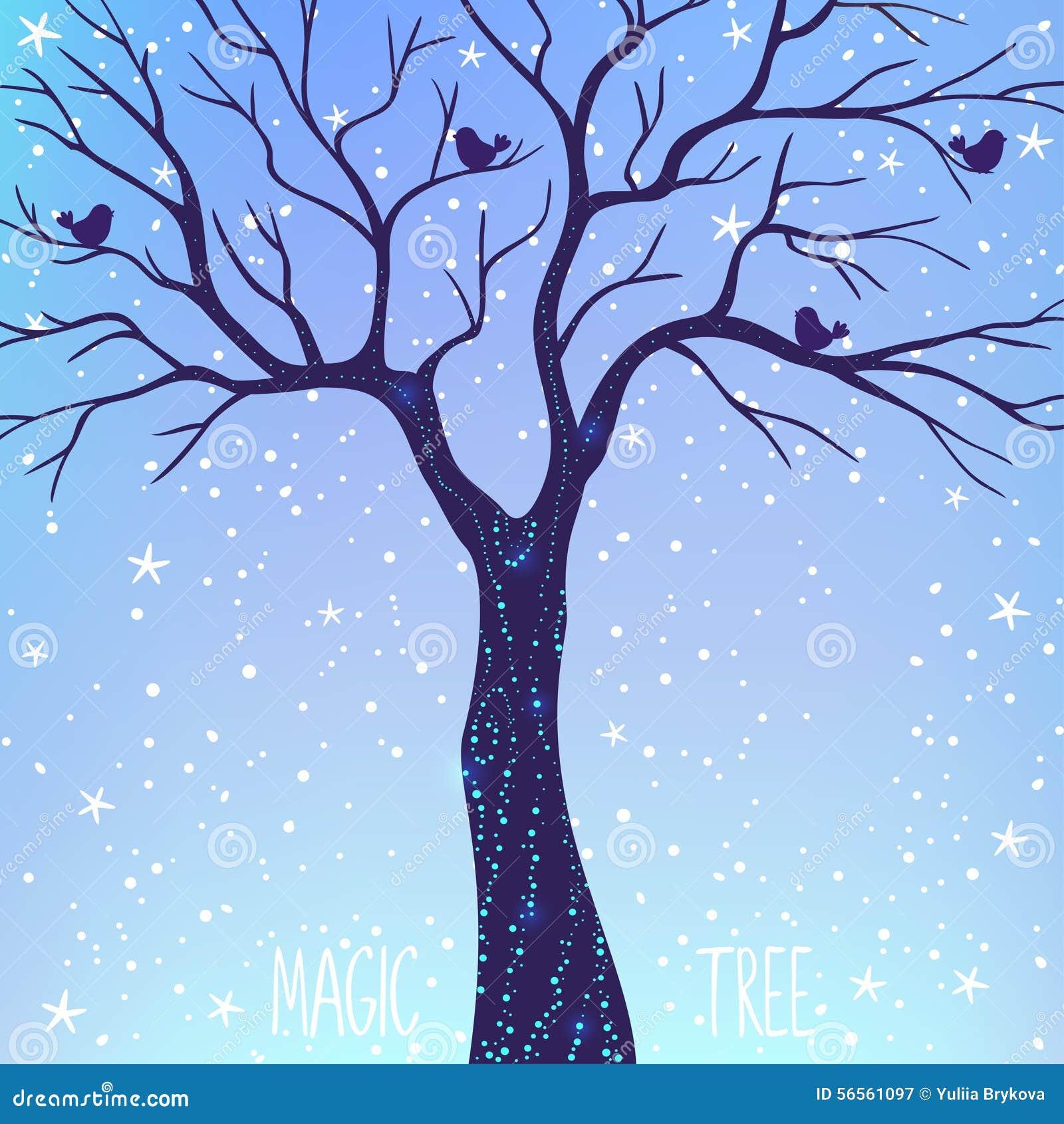 Download Μαγικό δέντρο διανυσματική απεικόνιση. εικονογραφία από περίγραμμα - 56561097