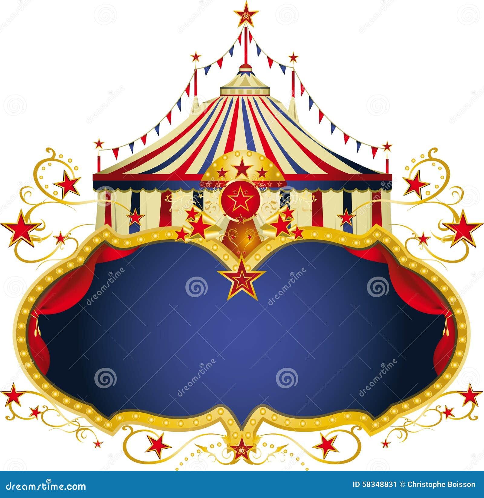 Μαγικό μπλε πλαίσιο τσίρκων