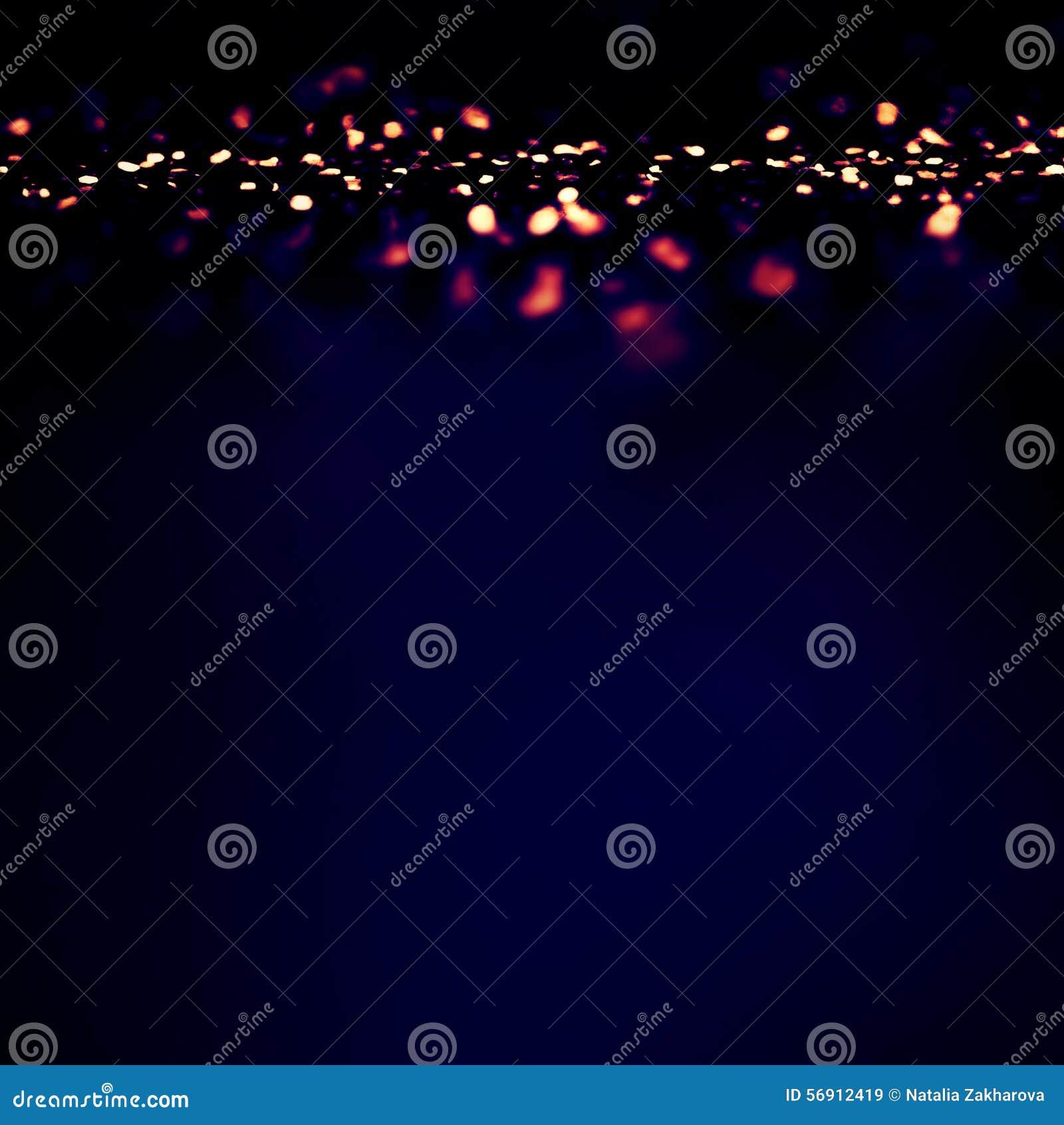 Μαγικό υπόβαθρο νύχτας με τα φω τα αστραπής Bokeh