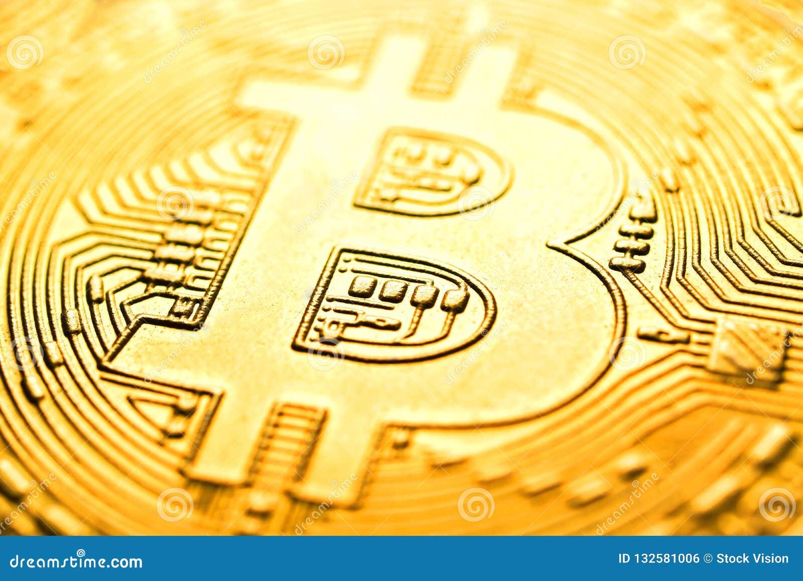 Μακρο εικόνα Bitcoin για το υπόβαθρο, περίληψη