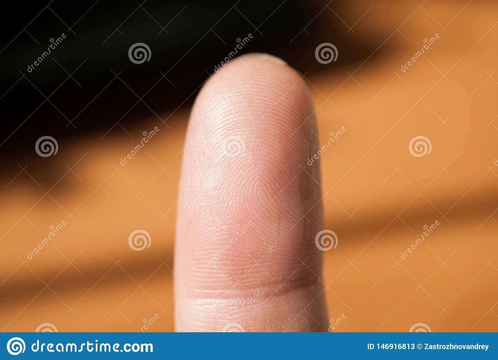 Μακρο πυροβολισμός του δακτυλικού αποτυπώματος Μέλη του σώματος