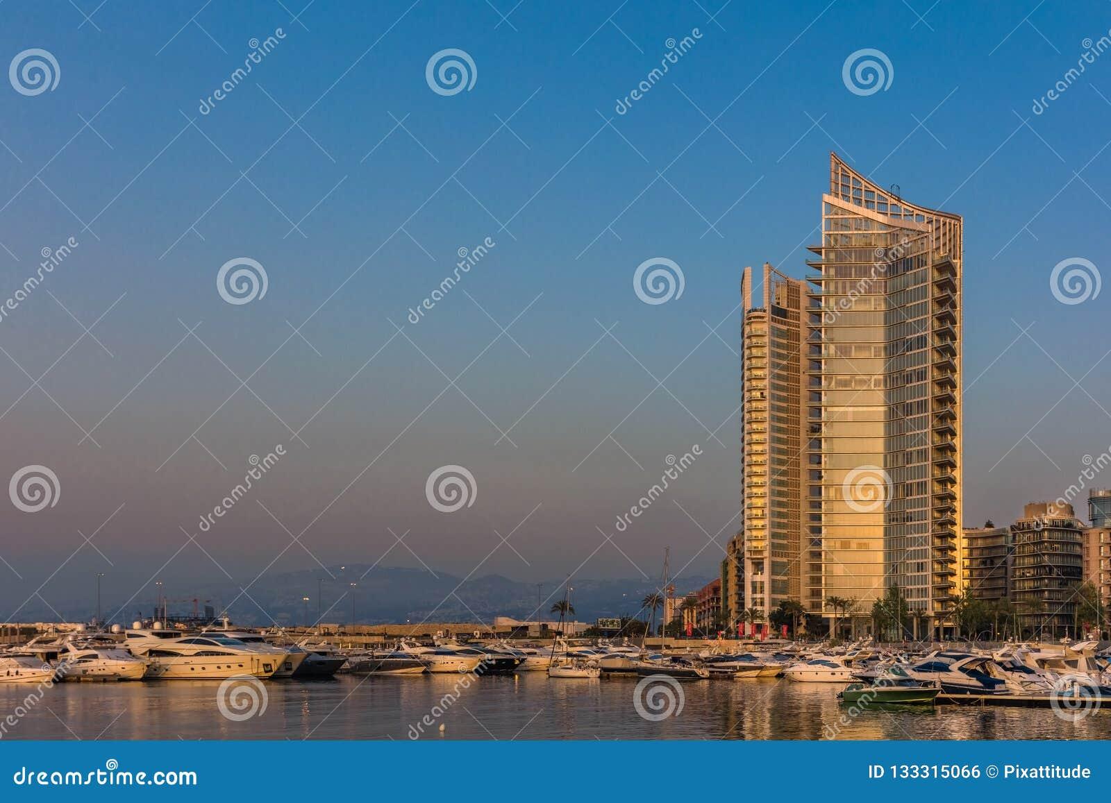 Μαρίνα Βηρυττός Λίβανος κόλπων Zaitunay