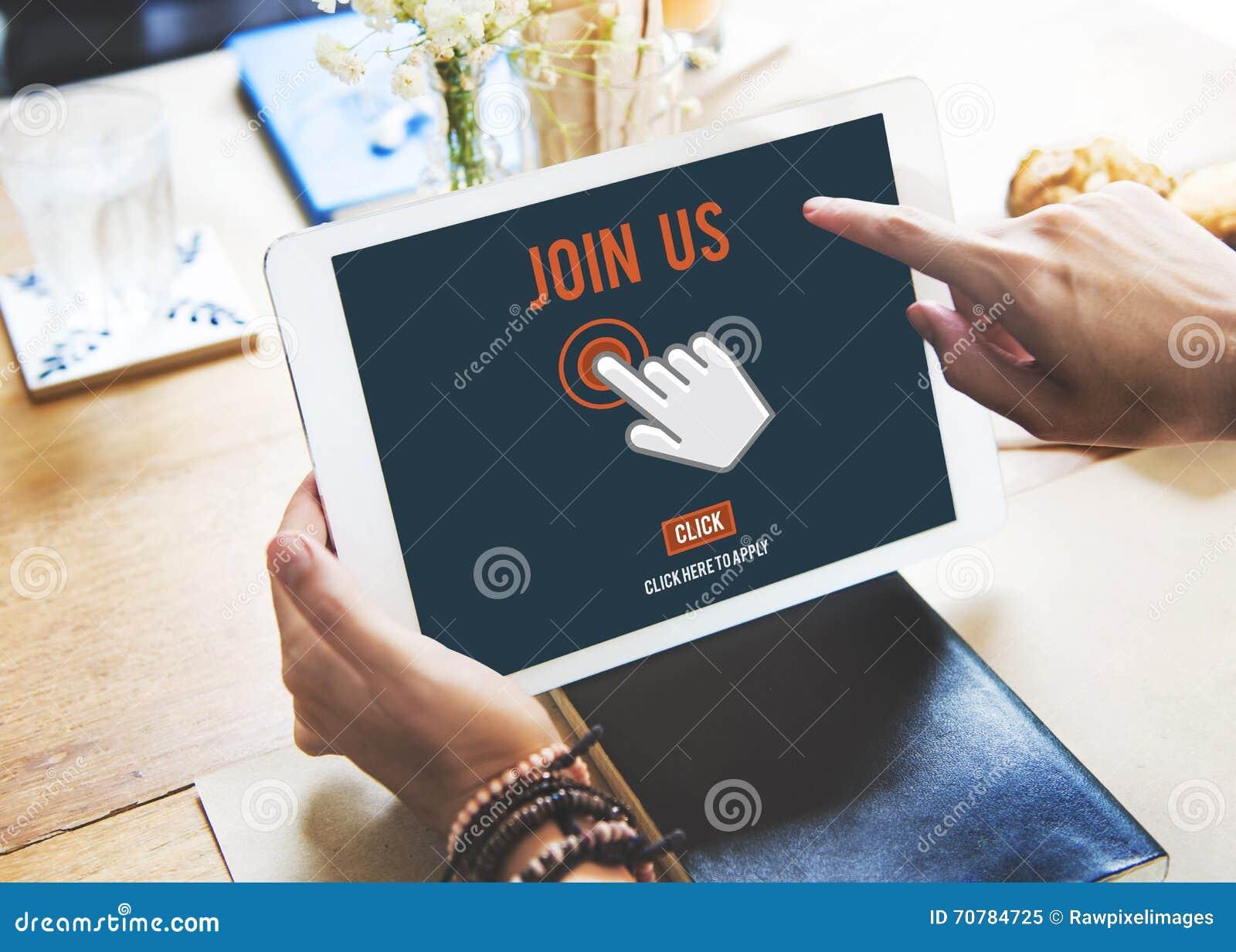 Μας ενώστε εφαρμογή πρόσληψης ακολουθεί τη σε απευθείας σύνδεση έννοια ιστοχώρου