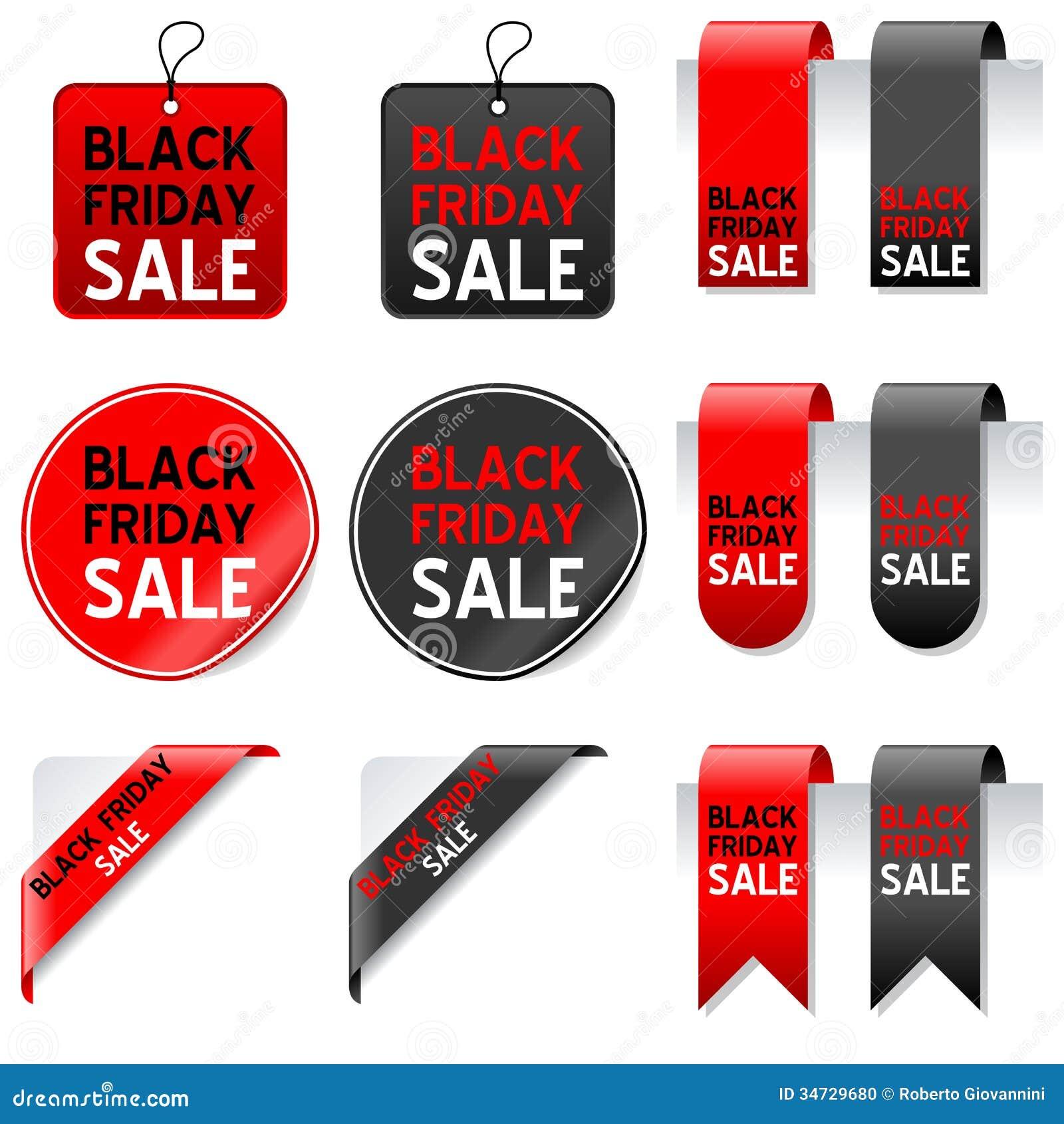 Μαύρα στοιχεία πώλησης Παρασκευής καθορισμένα