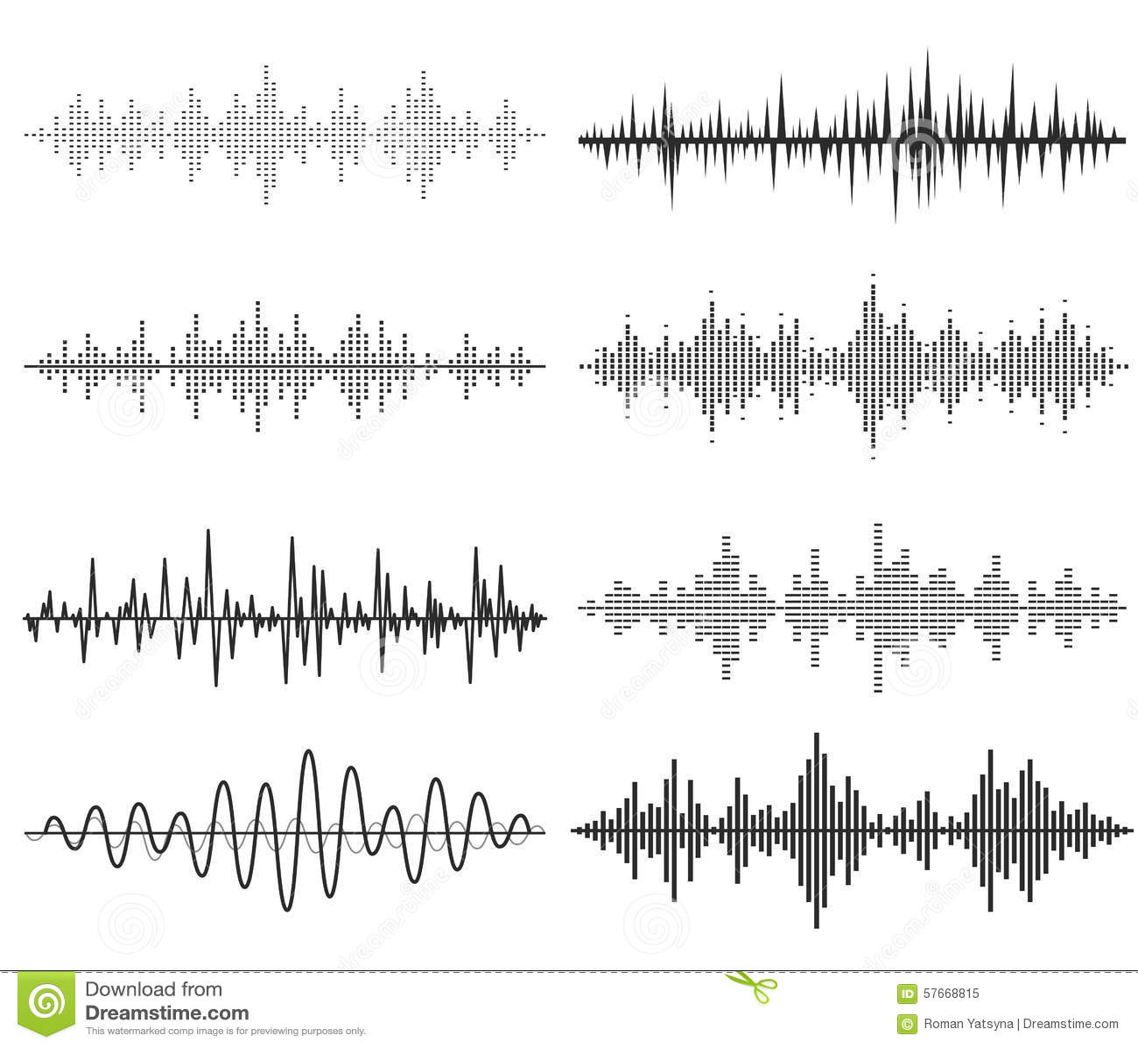 Μαύρα υγιή κύματα μουσικής Ακουστική τεχνολογία