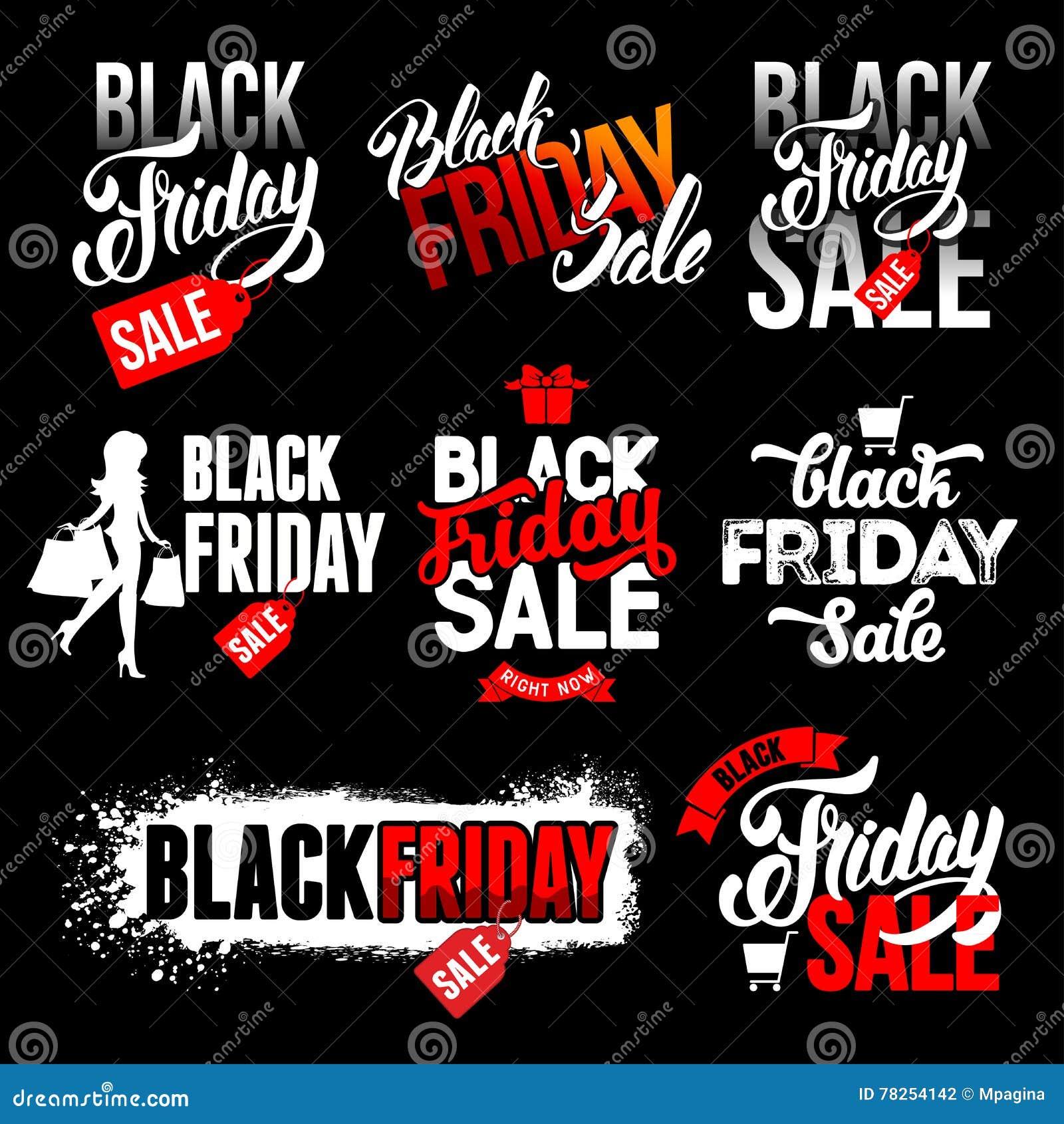 Μαύρες ετικέτες πώλησης Παρασκευής καθορισμένες