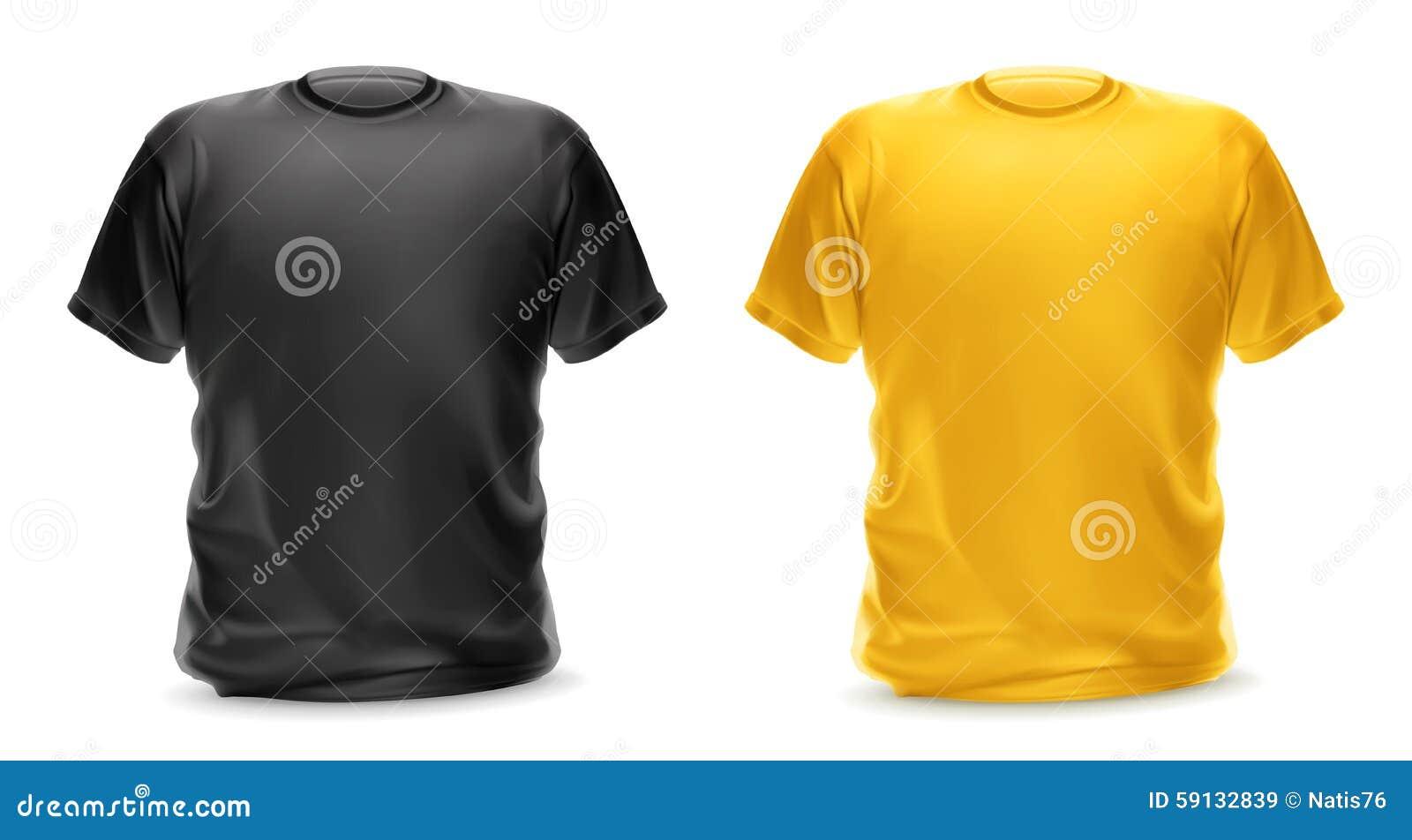 29dabec9cf58 Μαύρες και κίτρινες μπλούζες Διανυσματική απεικόνιση - εικονογραφία ...