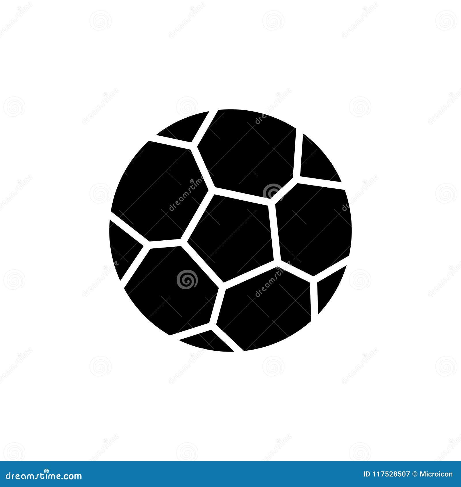 Μαύρη έννοια εικονιδίων παιχνιδιών ποδοσφαίρου Επίπεδο διανυσματικό σύμβολο παιχνιδιών ποδοσφαίρου, σημάδι, απεικόνιση