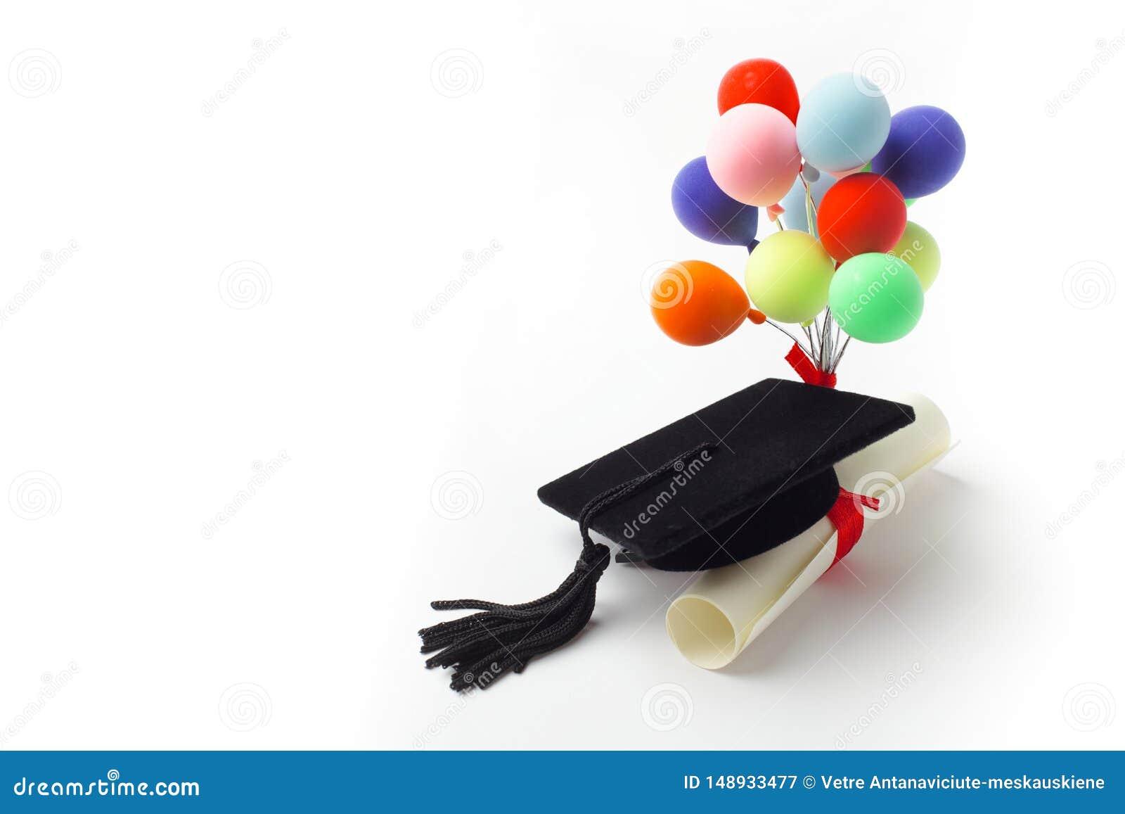 Μαύρη βαθμολόγηση ΚΑΠ, βαθμός και μπαλόνια που απομονώνονται στο άσπρο υπόβαθρο