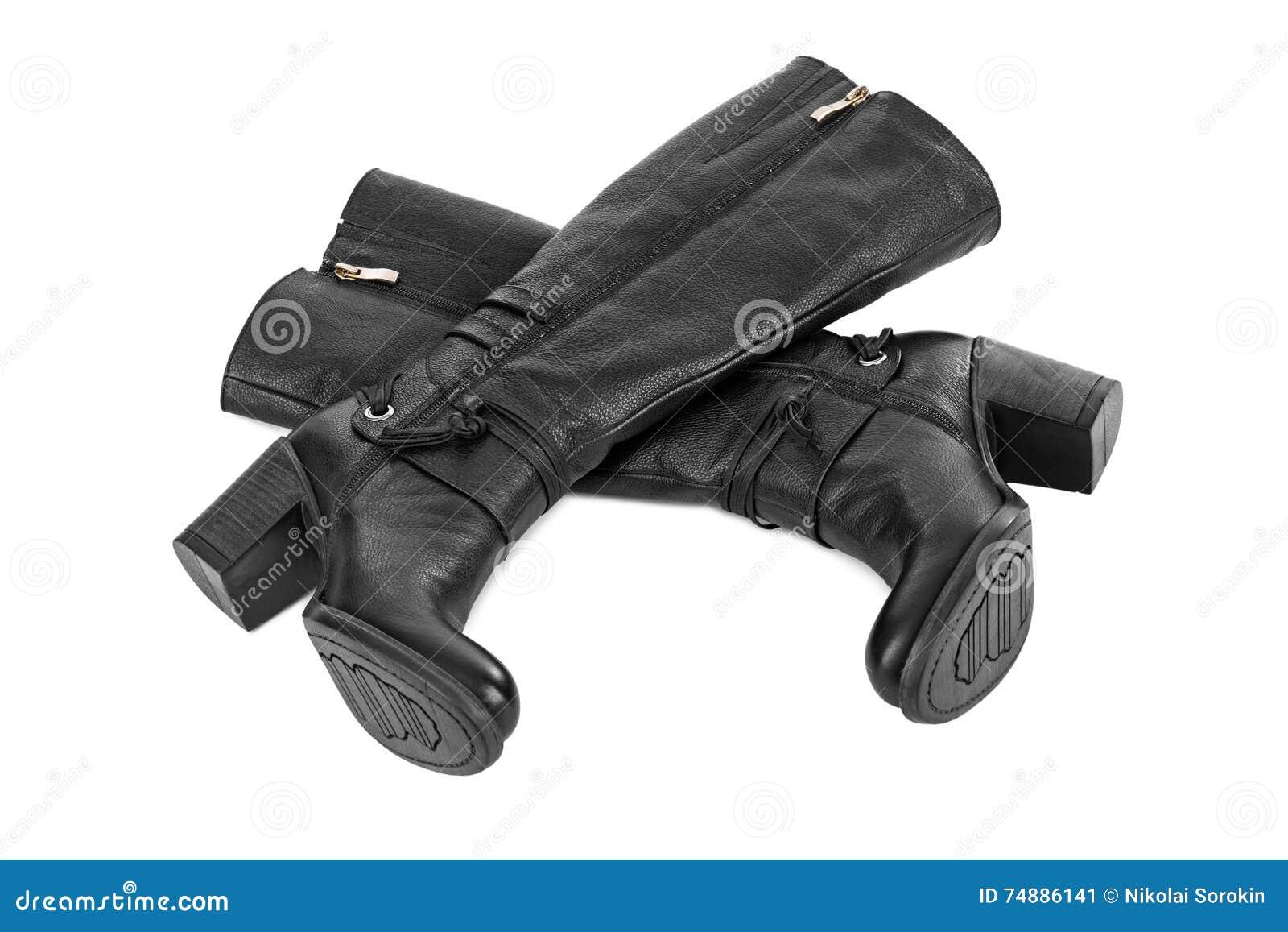 μαύρη γυναίκα μποτών
