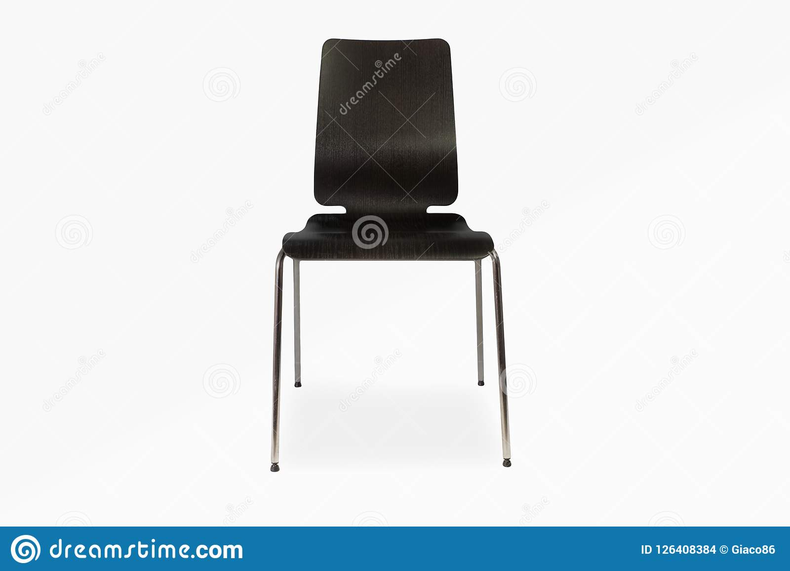 Μαύρη καρέκλα στο άσπρο υπόβαθρο - σχέδιο