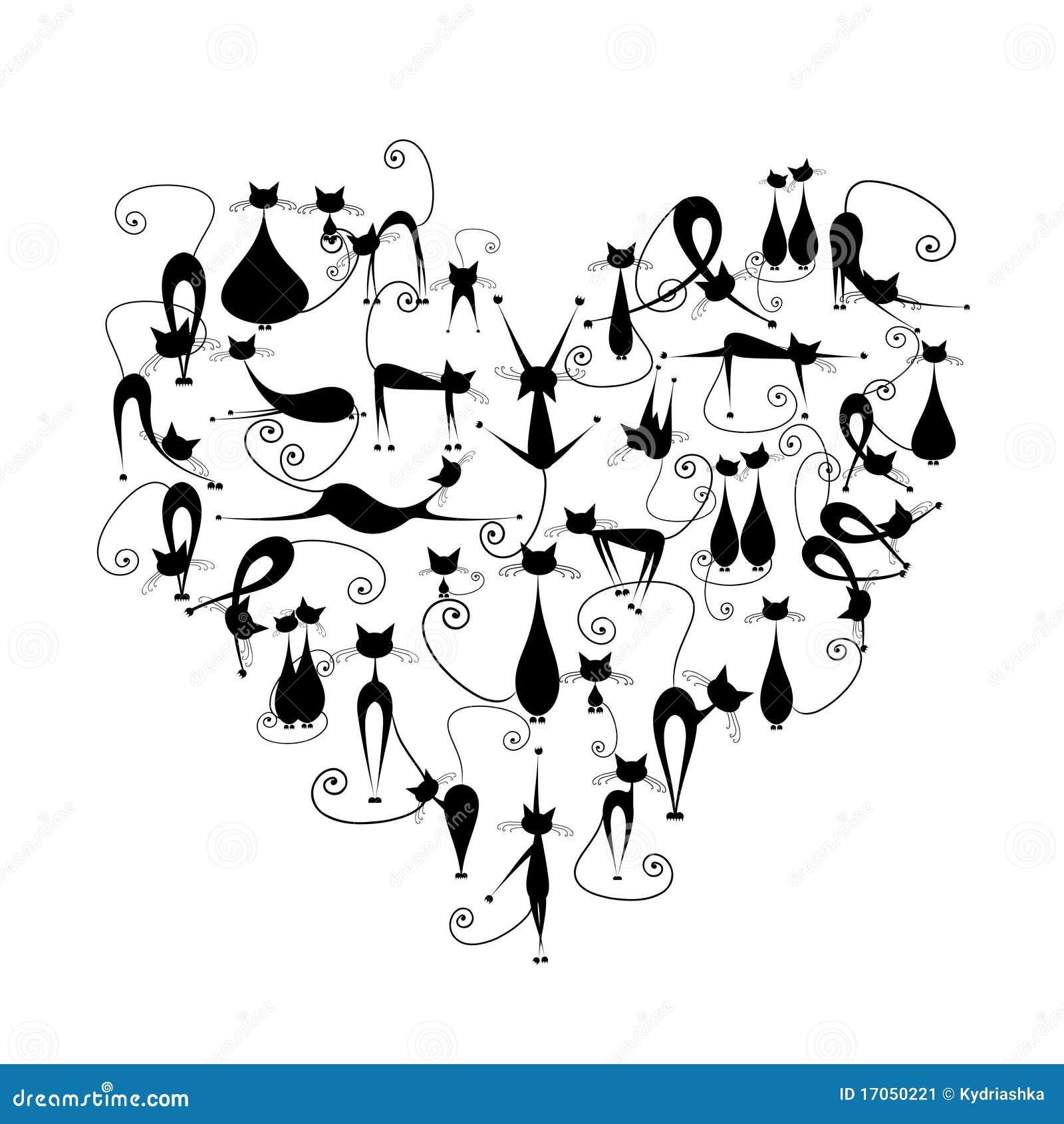 μαύρη καρδιά ι γατών σκιαγρ&a