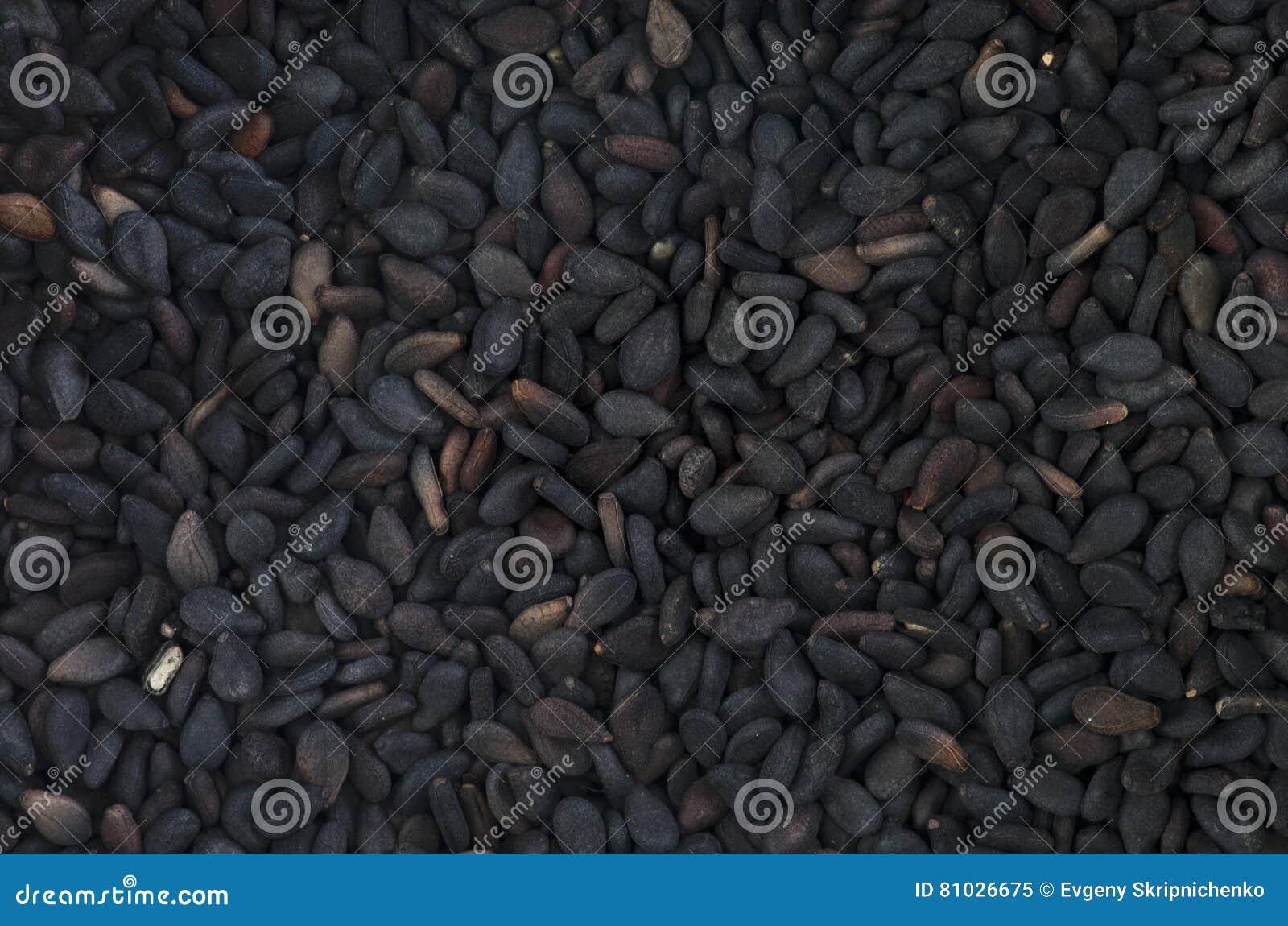 Μαύρη μακροεντολή υποβάθρου κύμινου