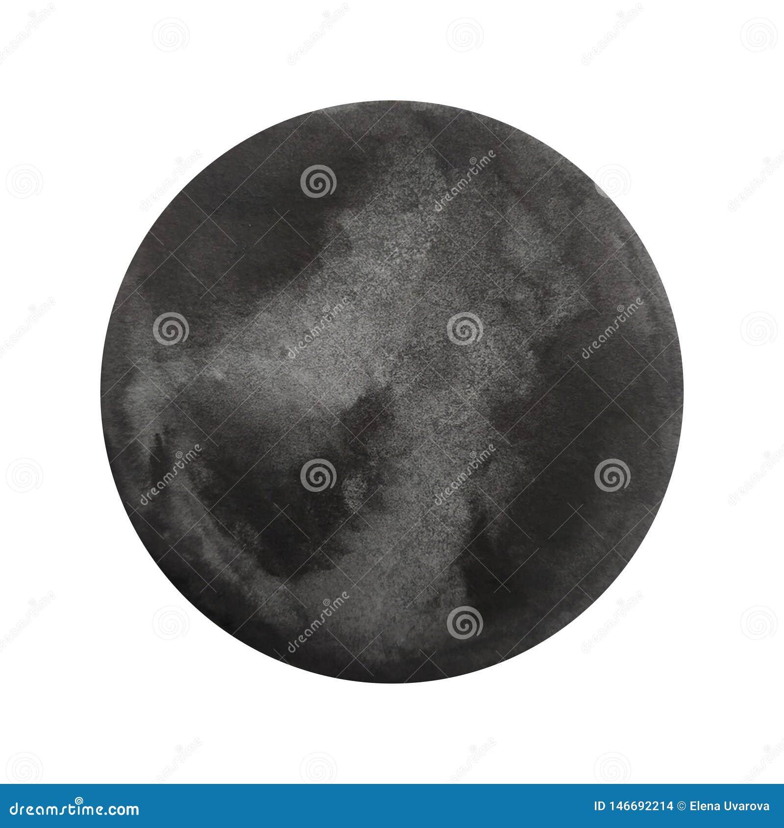 Μαύρος κύκλος Watercolor
