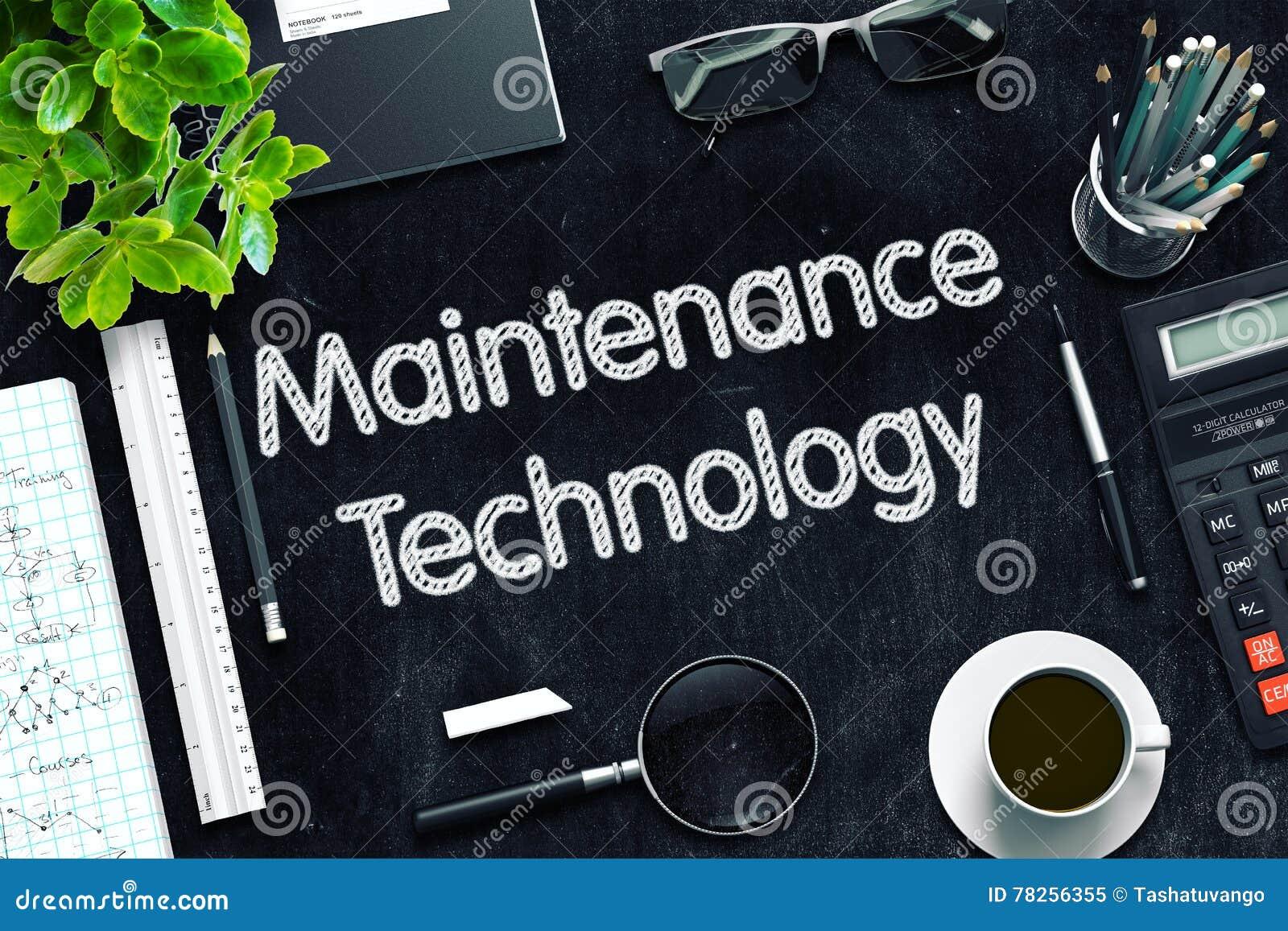 Μαύρος πίνακας κιμωλίας με την τεχνολογία συντήρησης τρισδιάστατη απόδοση