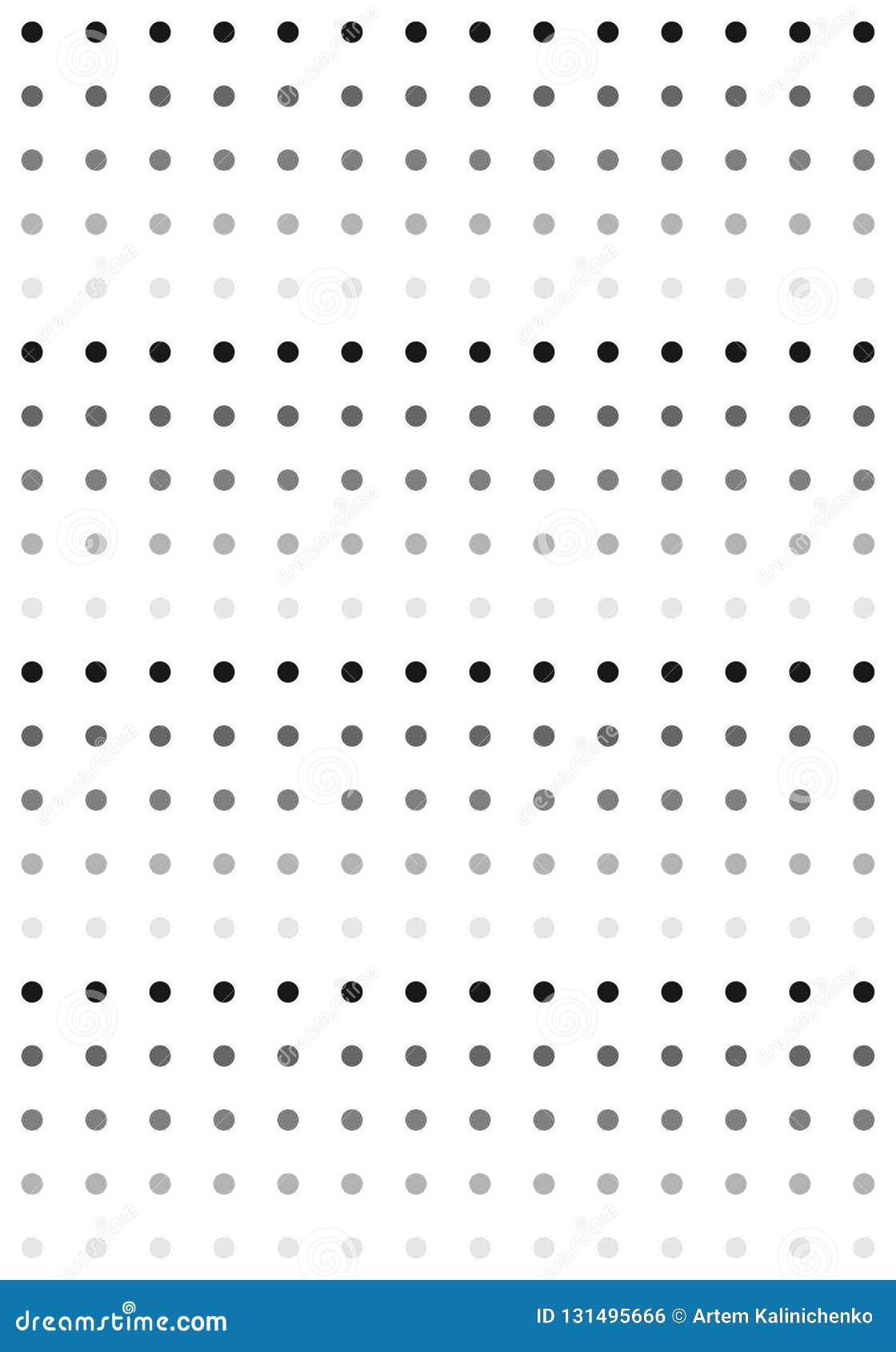 Μαύρο & άσπρο σχέδιο σημείων