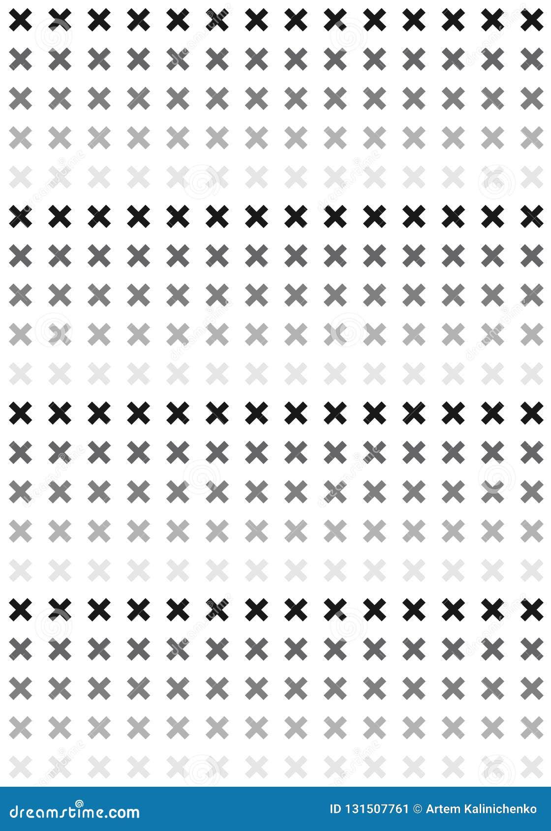 Μαύρο & άσπρο σχέδιο σταυρών