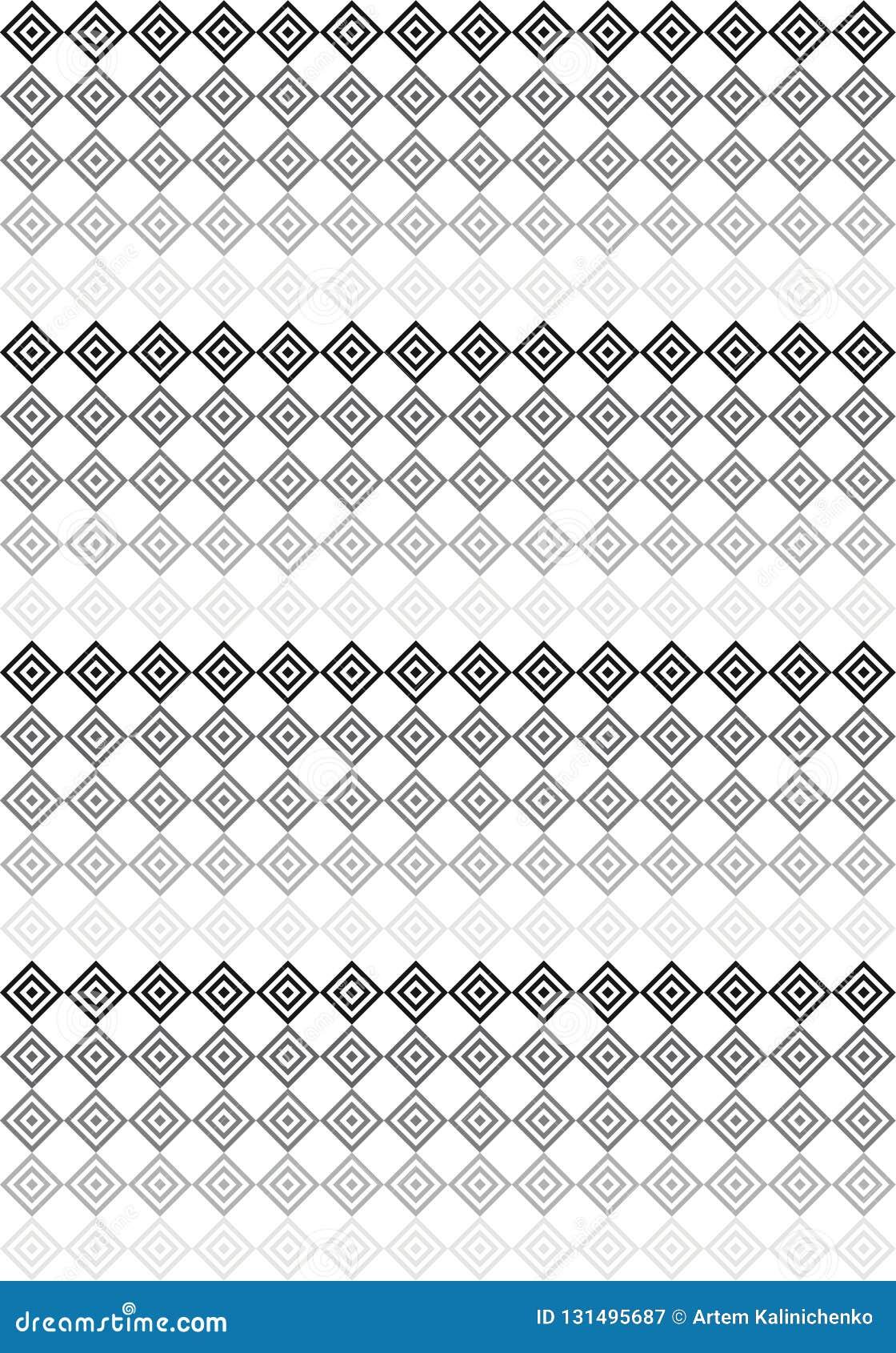 Μαύρο & άσπρο σχέδιο τετραγώνων