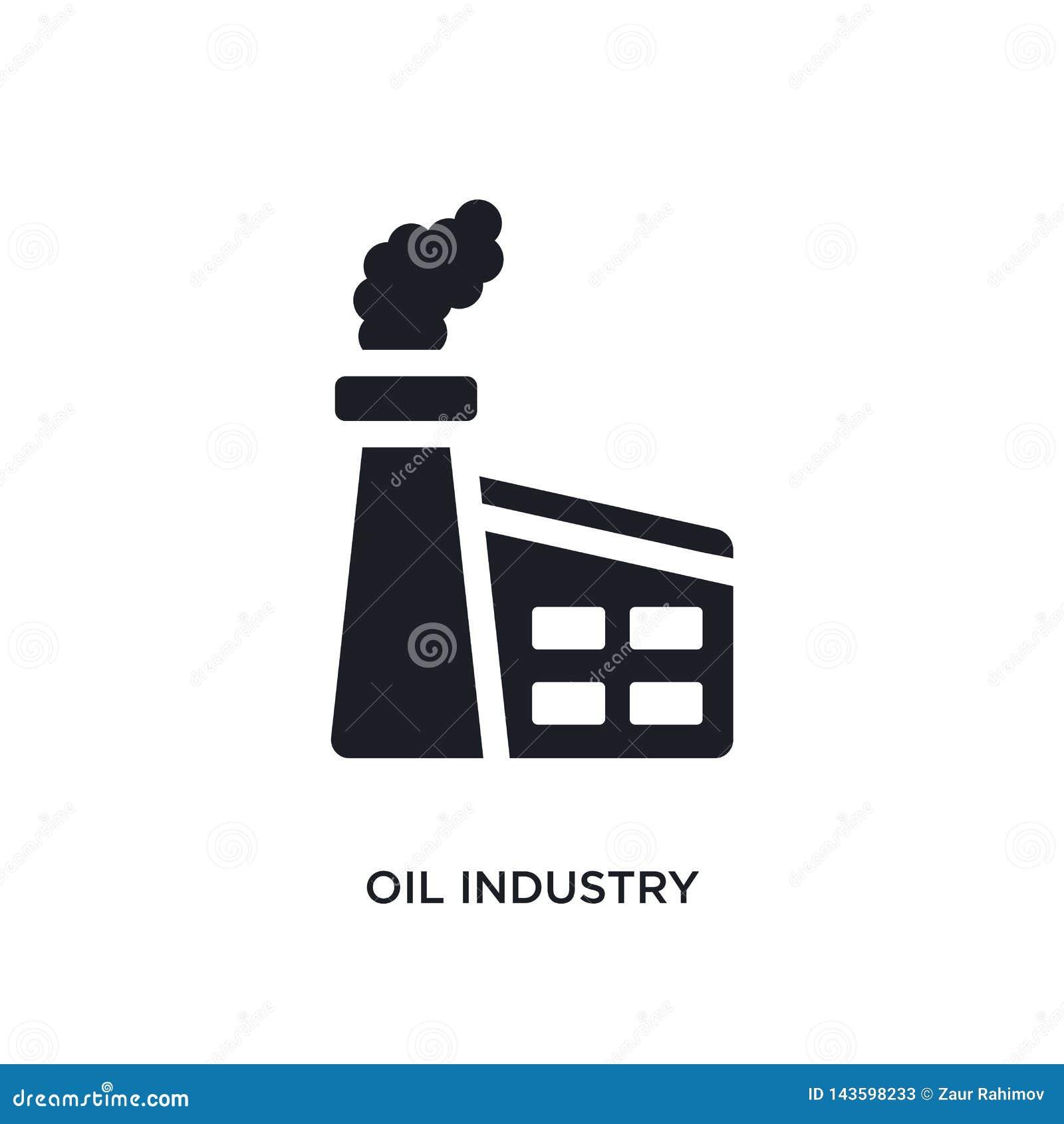 μαύρο απομονωμένο βιομηχανία πετρελαίου διανυσματικό εικονίδιο απλή απεικόνιση στοιχείων από τα διανυσματικά εικονίδια έννοιας βι